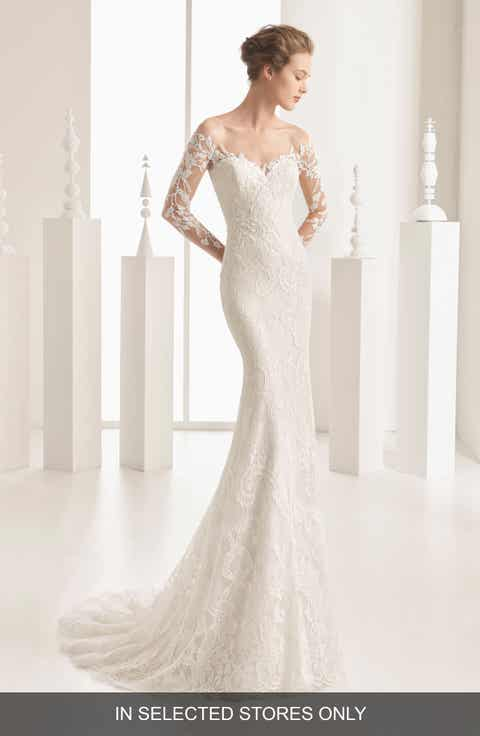 Womens mermaidtrumpet wedding dresses bridal gowns nordstrom rosa clara couture naim strapless illusion lace mermaid gown junglespirit Images