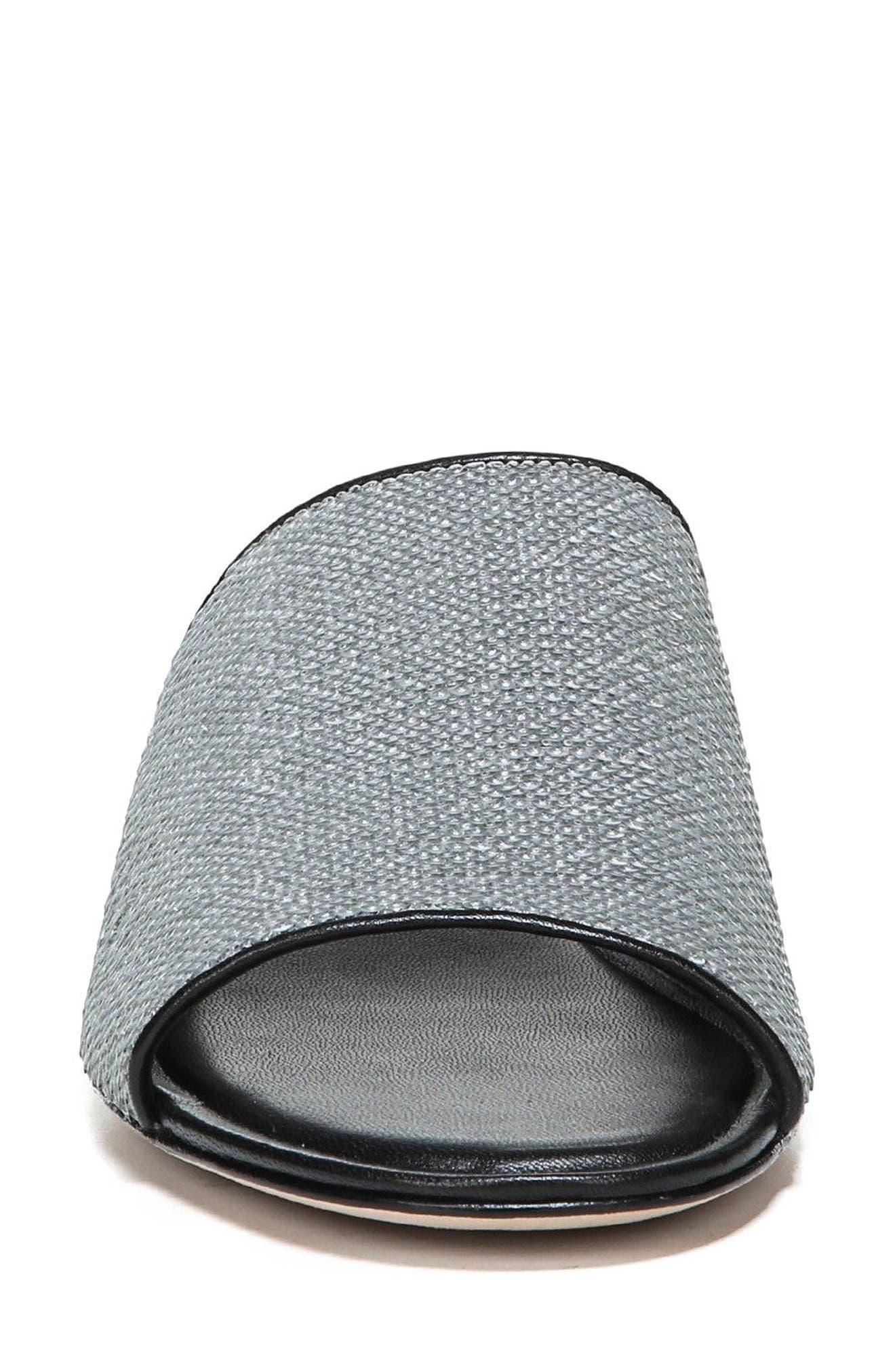 Samassi 1 Slide Sandal,                             Alternate thumbnail 4, color,                             Silver Sequins