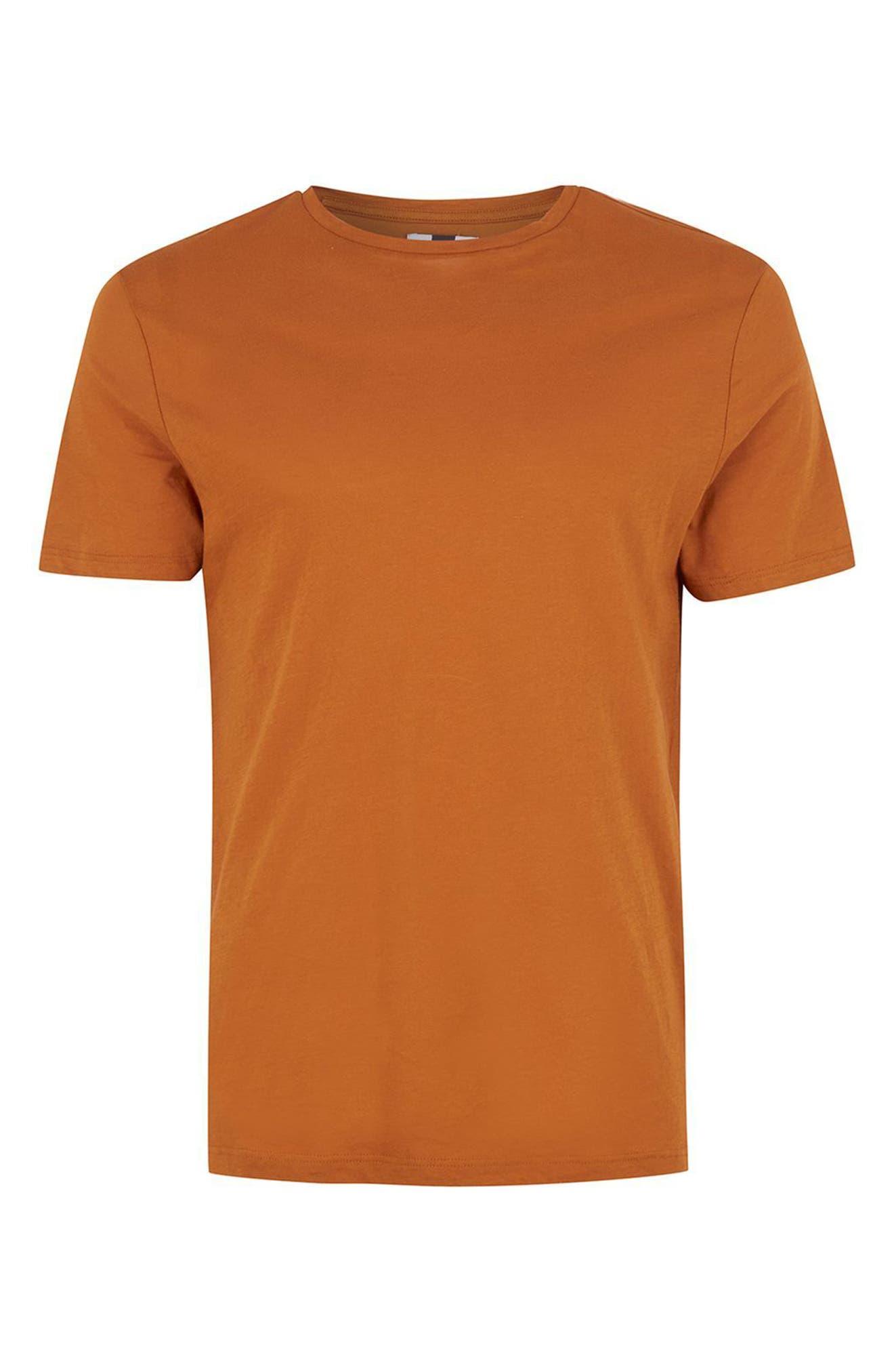 Crewneck T-Shirt,                             Alternate thumbnail 4, color,                             Rust Orange