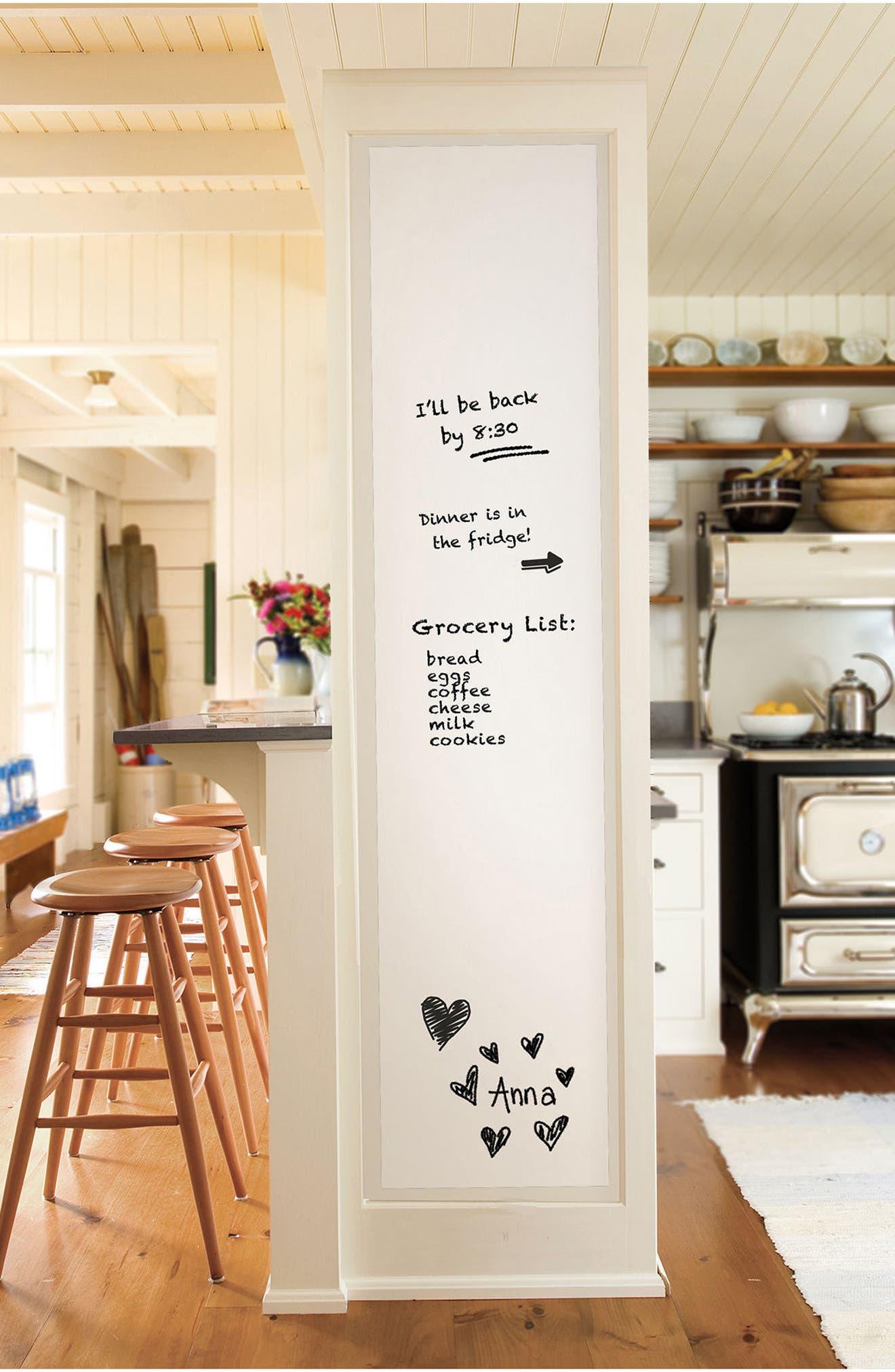 Peel & Stick Dry Erase Board,                         Main,                         color, White Off-White