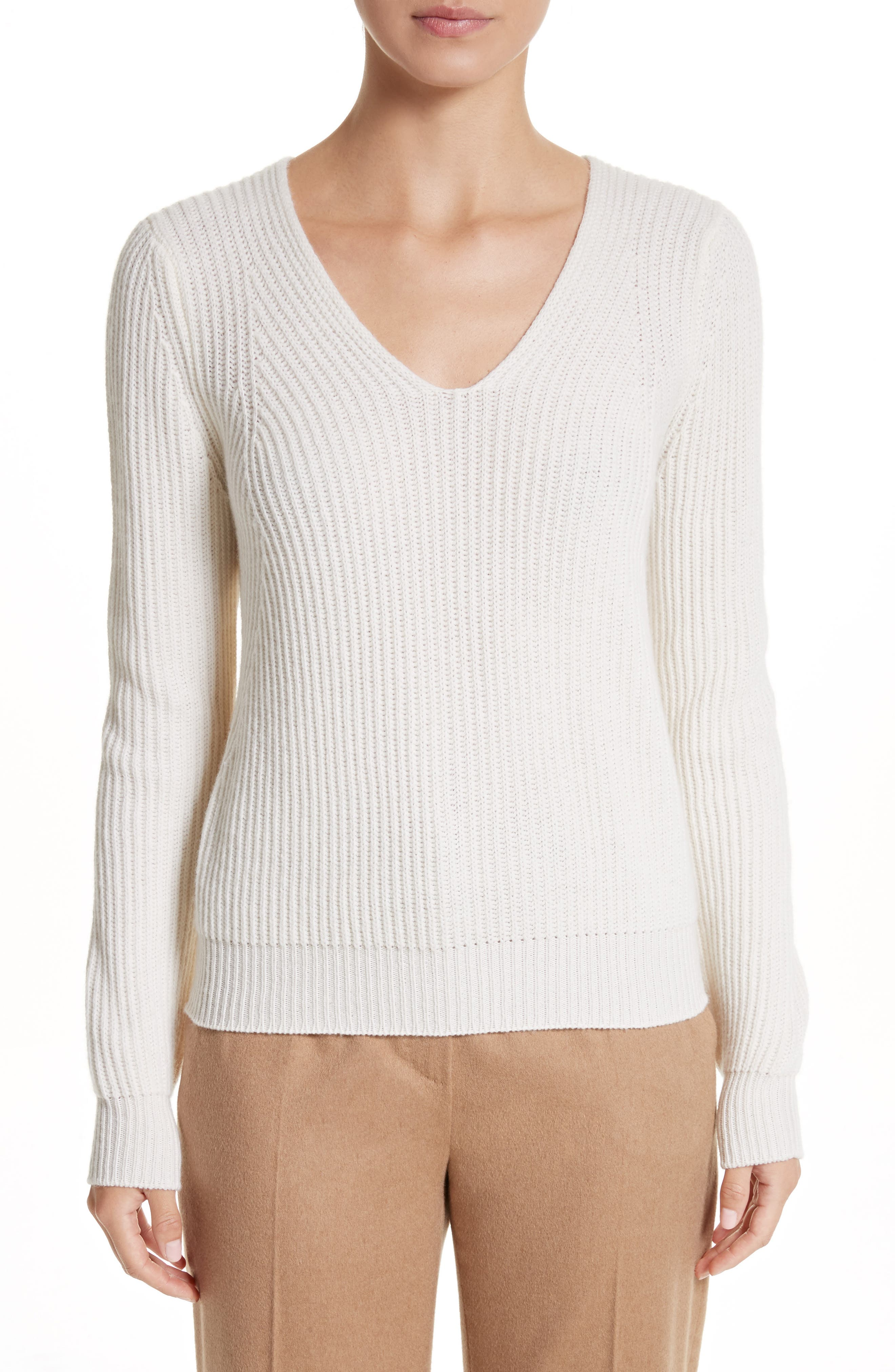 Sax Wool & Cashmere Sweater,                         Main,                         color, Ivory