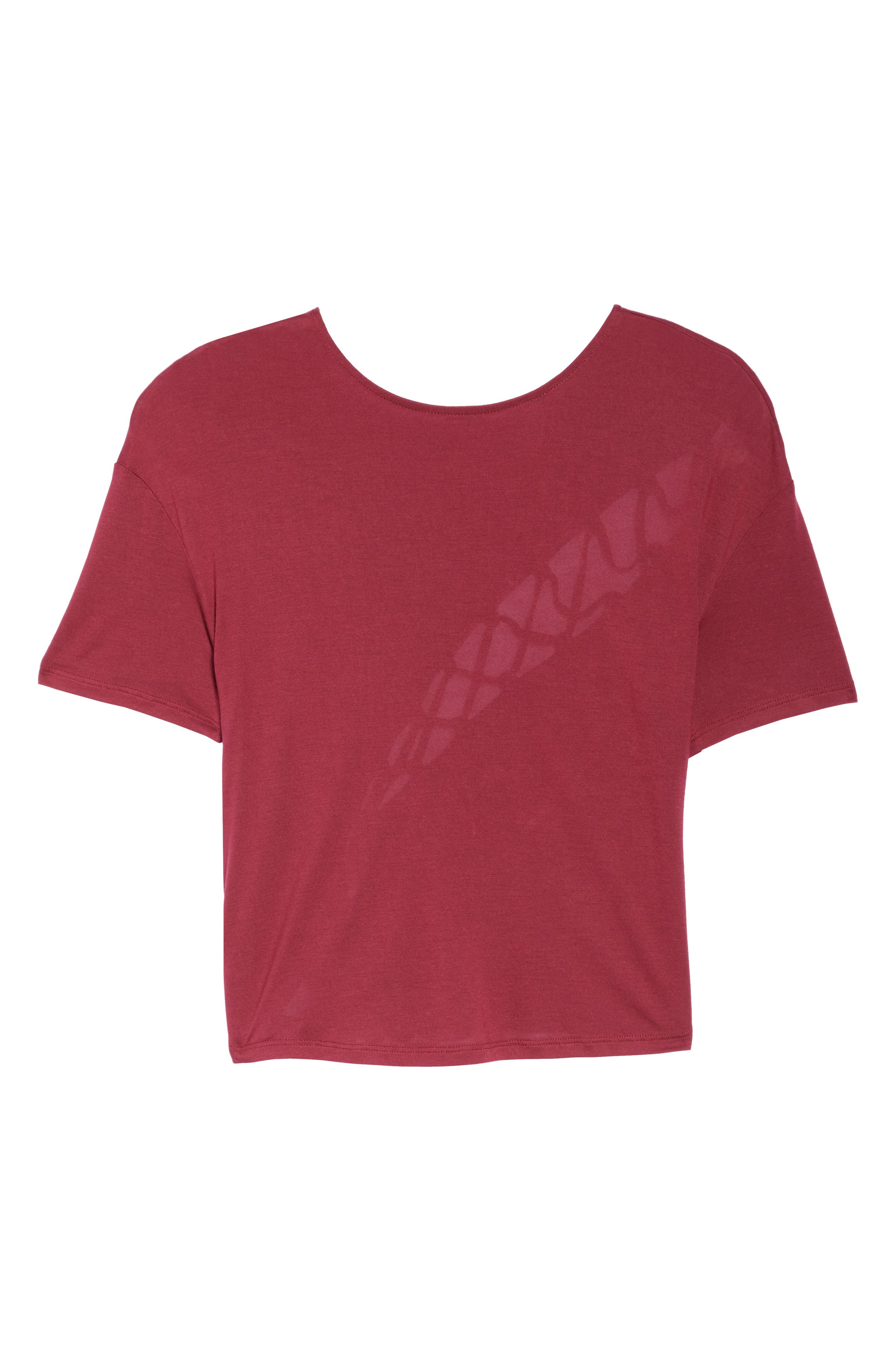 Entwine Crop Tee,                             Alternate thumbnail 7, color,                             Red Velvet