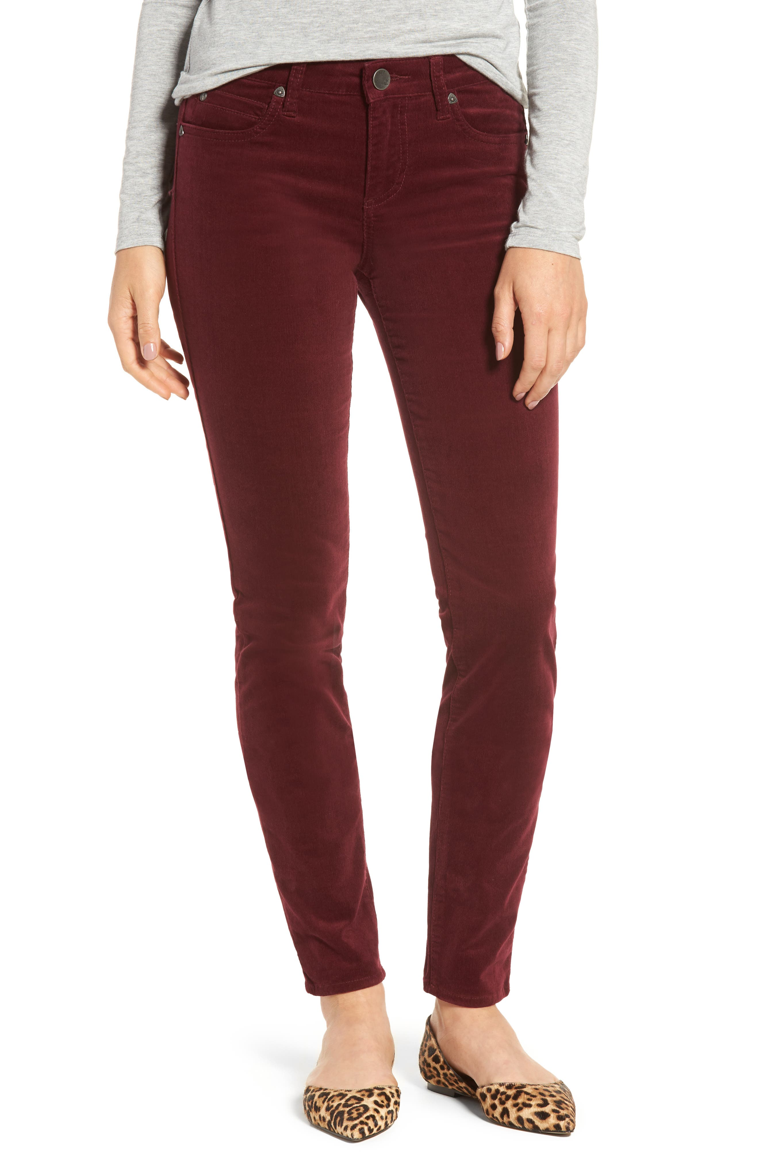 Burgundy Pants For Women JR4vIKtm