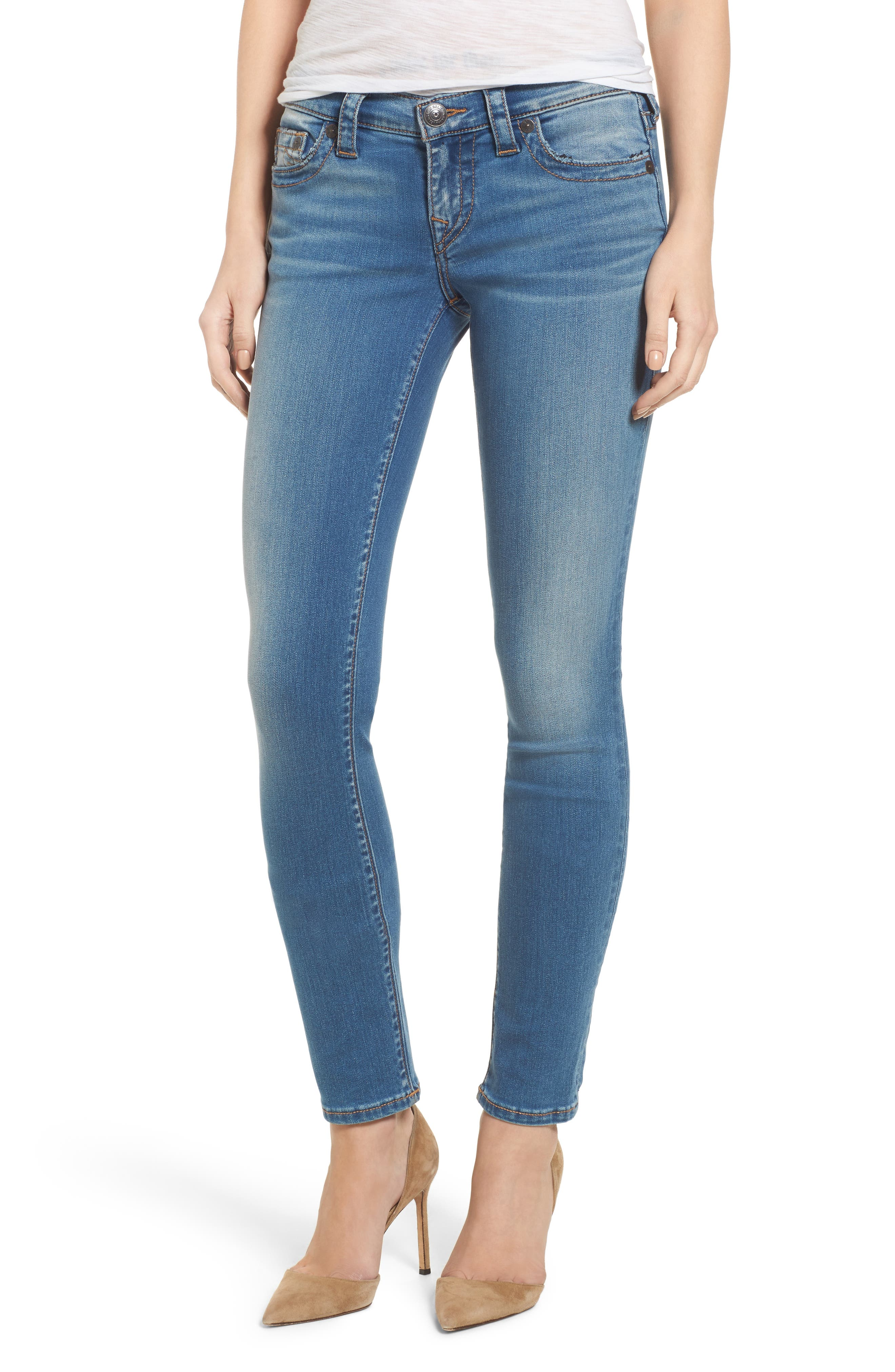 True Religion Brand Jeans Stella Low Rise Skinny Jeans (Nu Authentic Indigo)