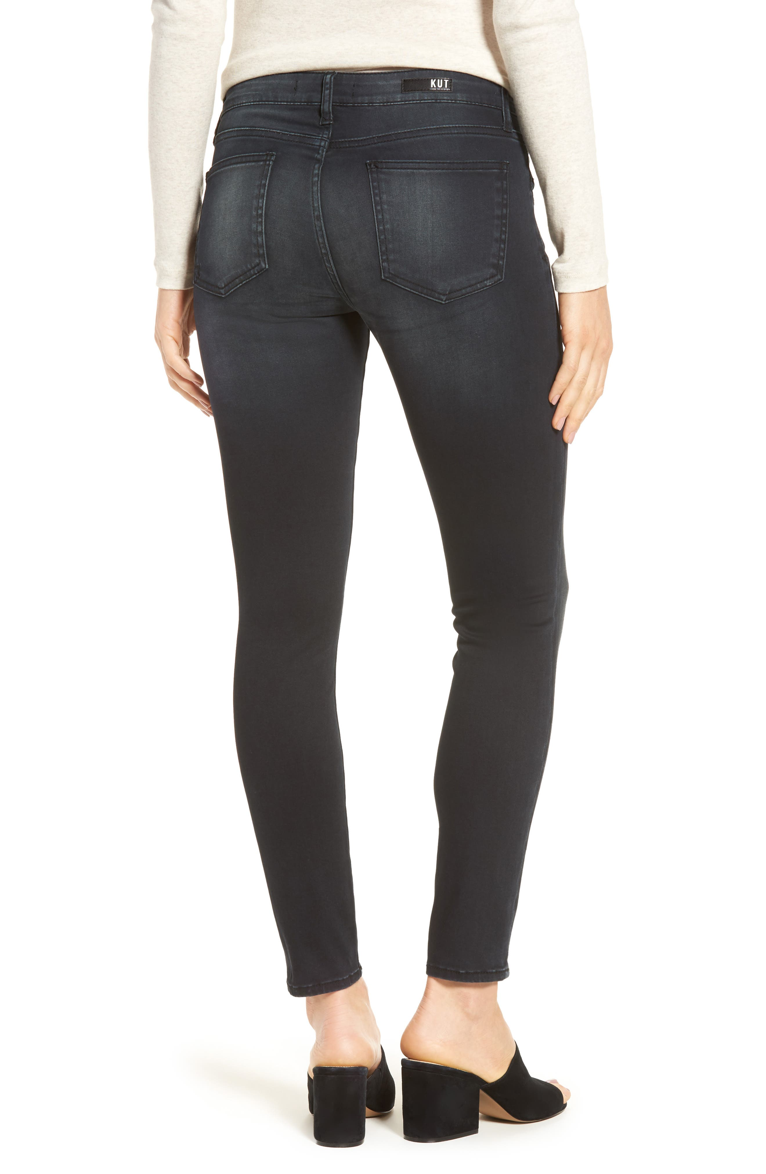 Alternate Image 2  - KUT from the Kloth Reese Skinny Ankle Jeans (Proven)