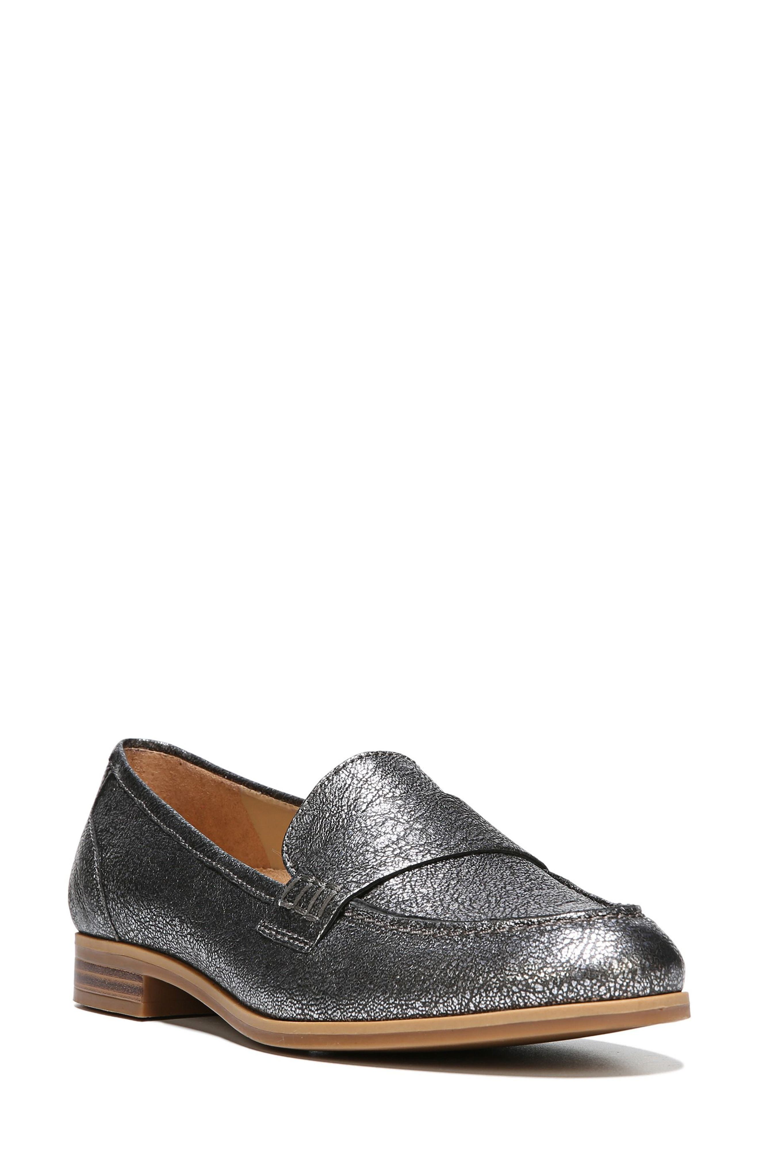 Veronica Loafer,                         Main,                         color, Silver Leather