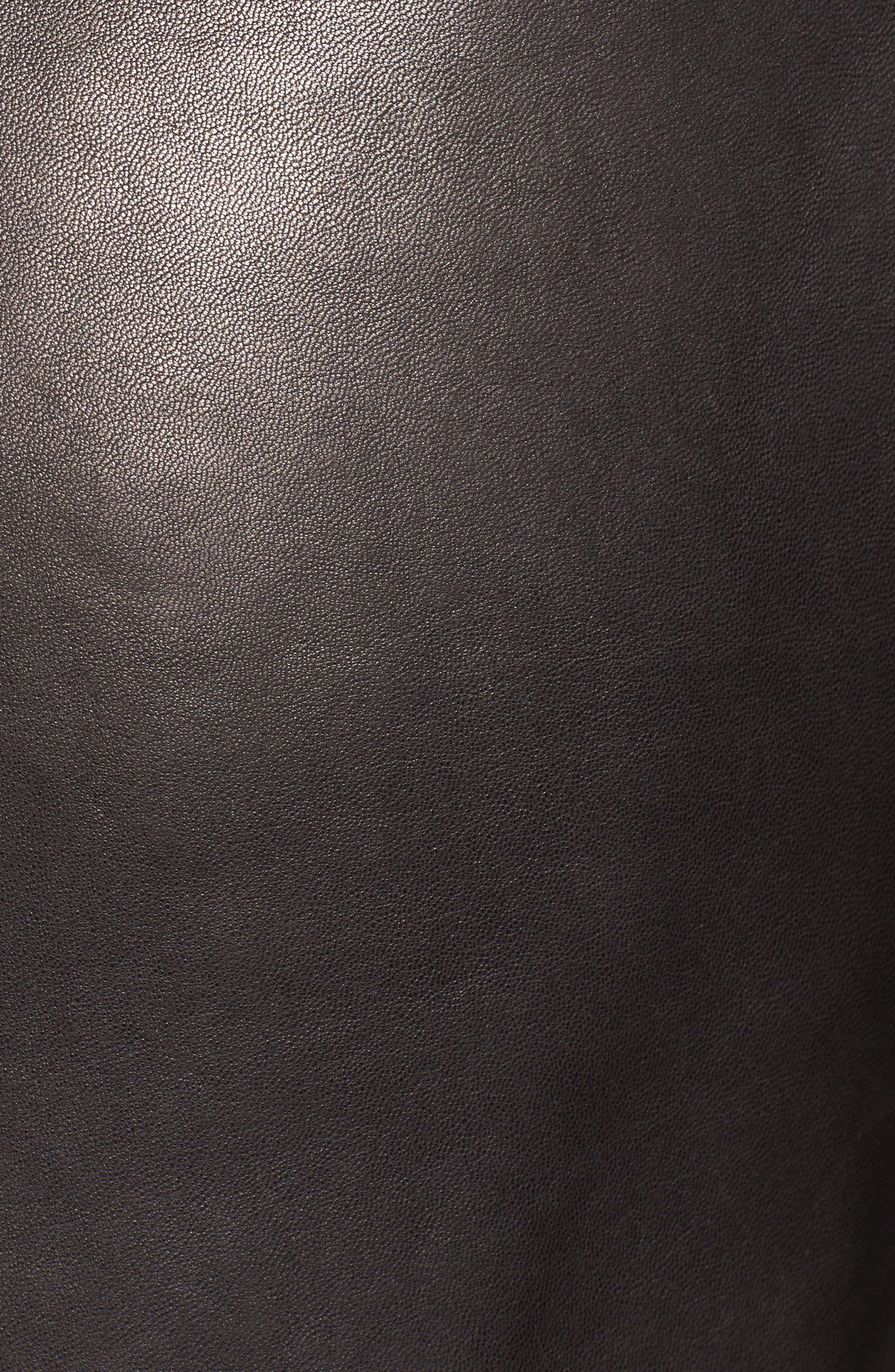 Tuers Lambskin Leather Moto Jacket,                             Alternate thumbnail 6, color,                             Black