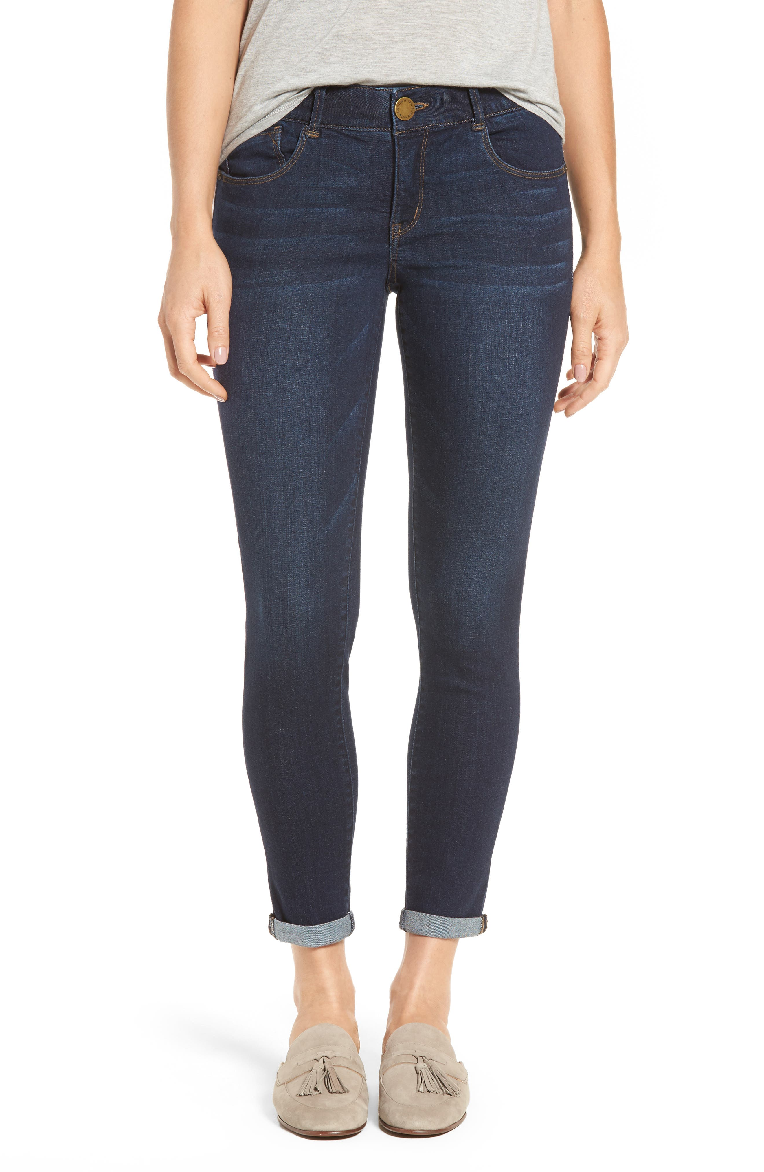 Ab-solution Boyfriend Ankle Jeans,                         Main,                         color, Indigo