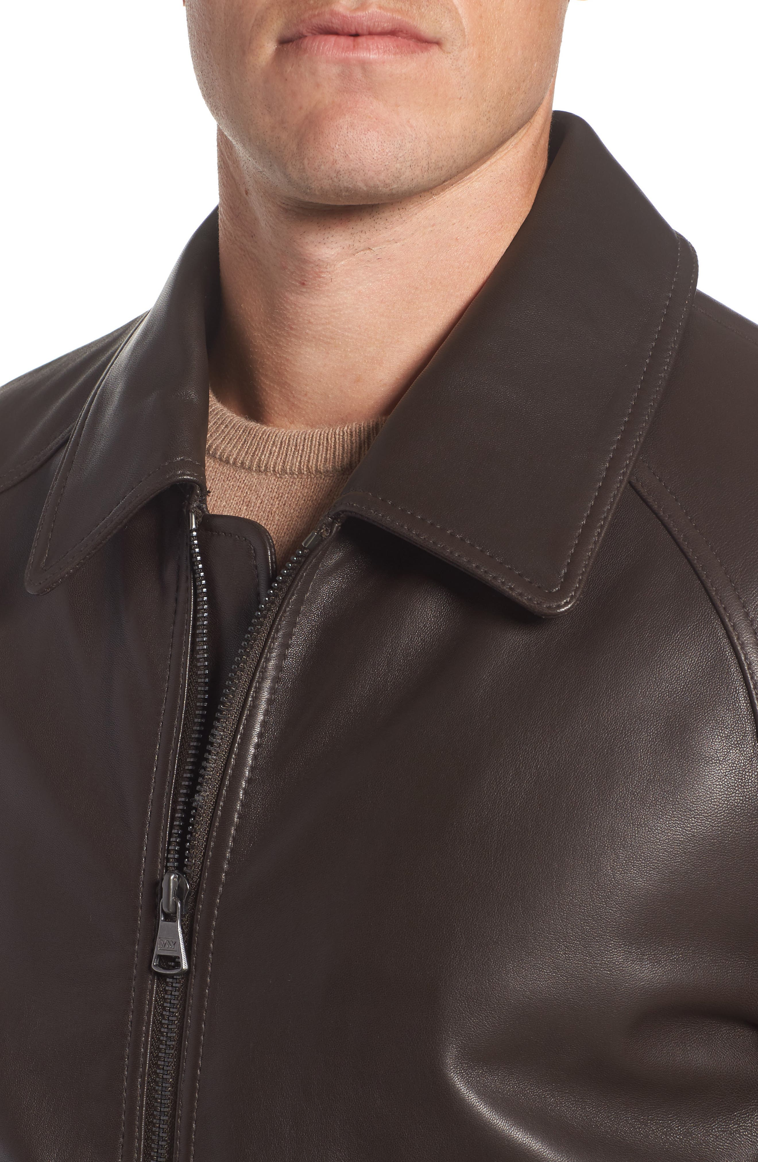 Alternate Image 4  - Andrew Marc Lambskin Leather Aviator Jacket