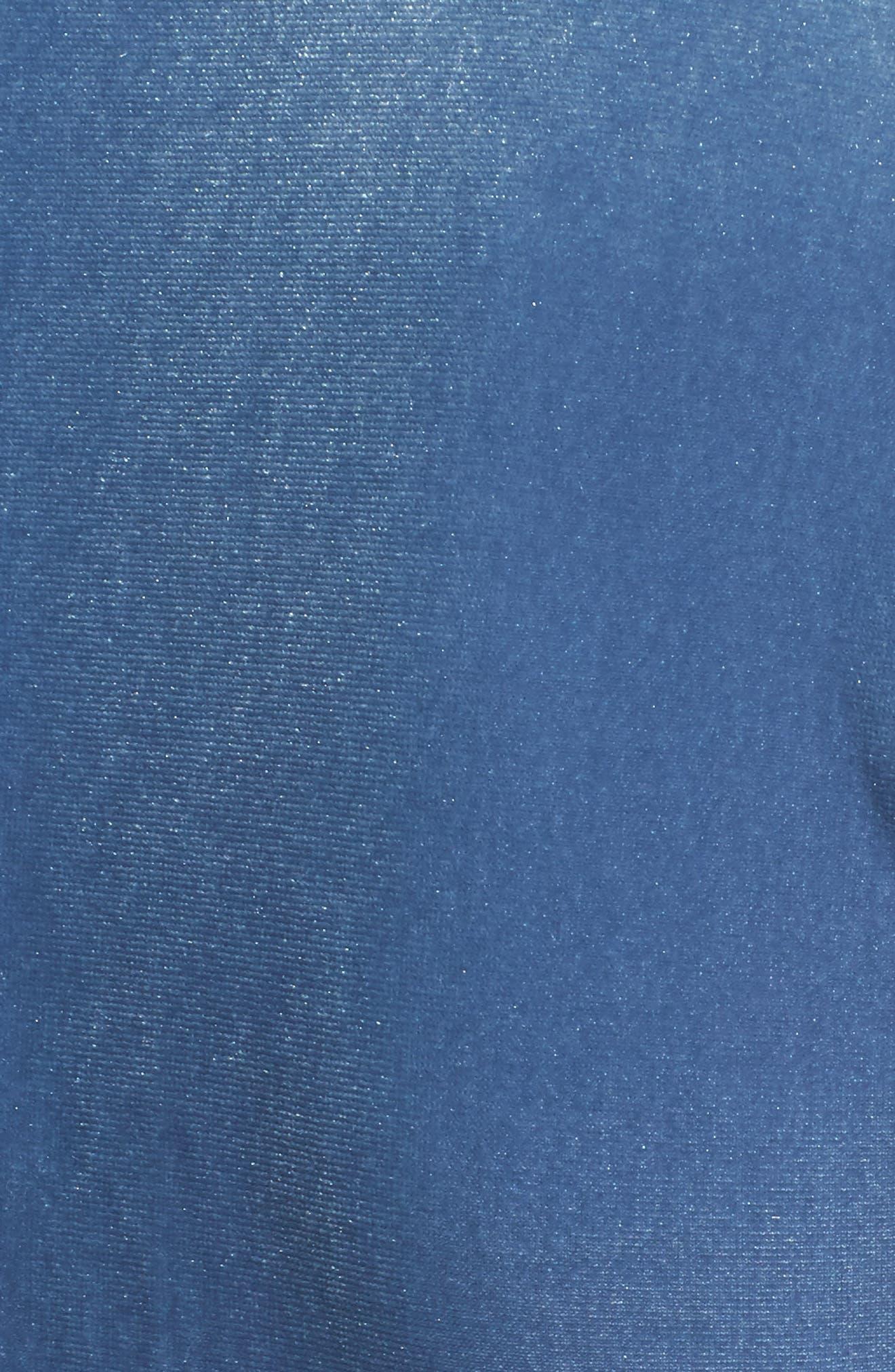 Selina Velvet Wrap Dress,                             Alternate thumbnail 5, color,                             Blue Velvet