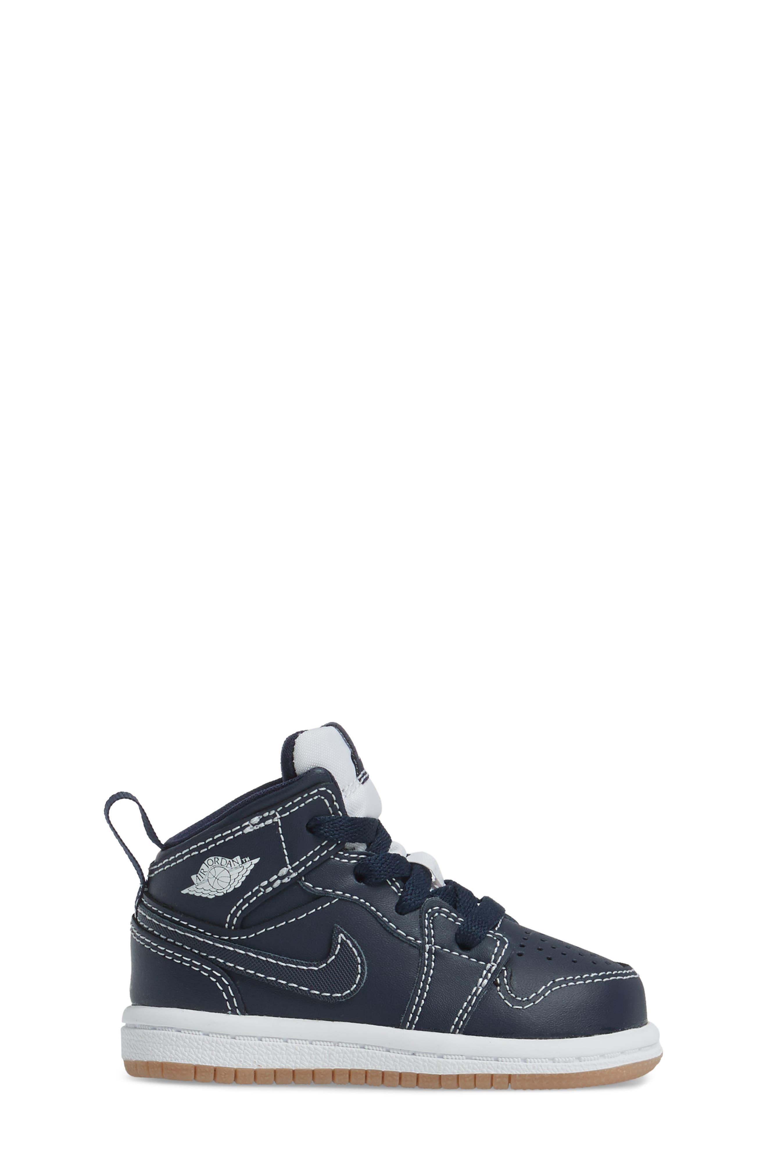 Alternate Image 3  - Nike 'Air Jordan 1' Mid Sneaker (Baby, Walker & Toddler)