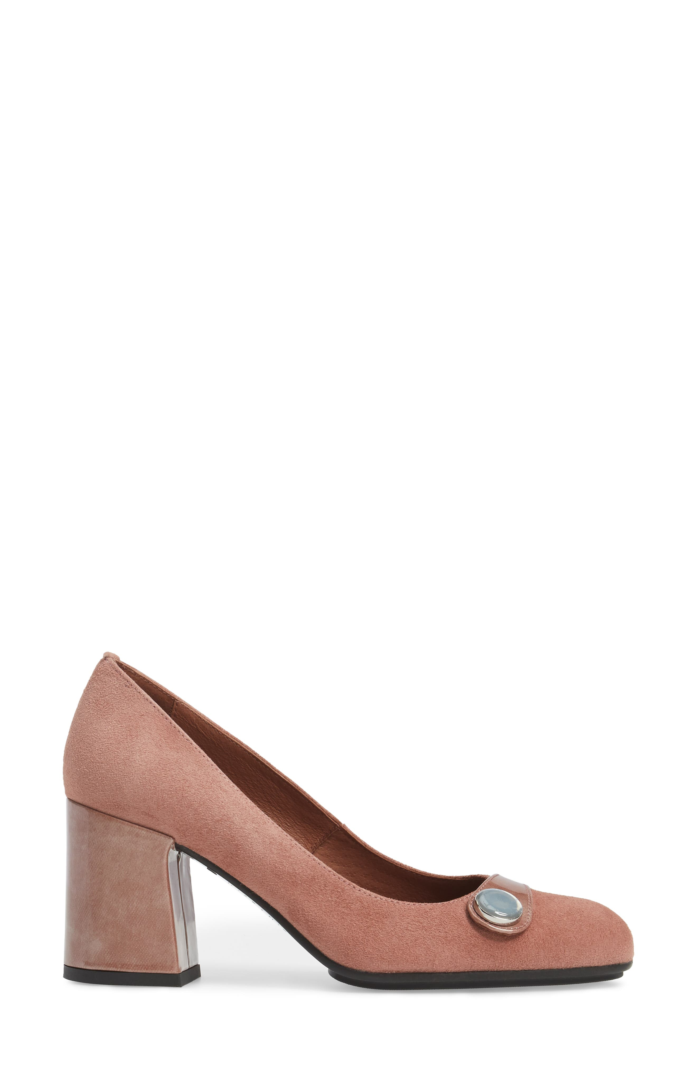 Gretchen Pump,                             Alternate thumbnail 3, color,                             Rose Leather