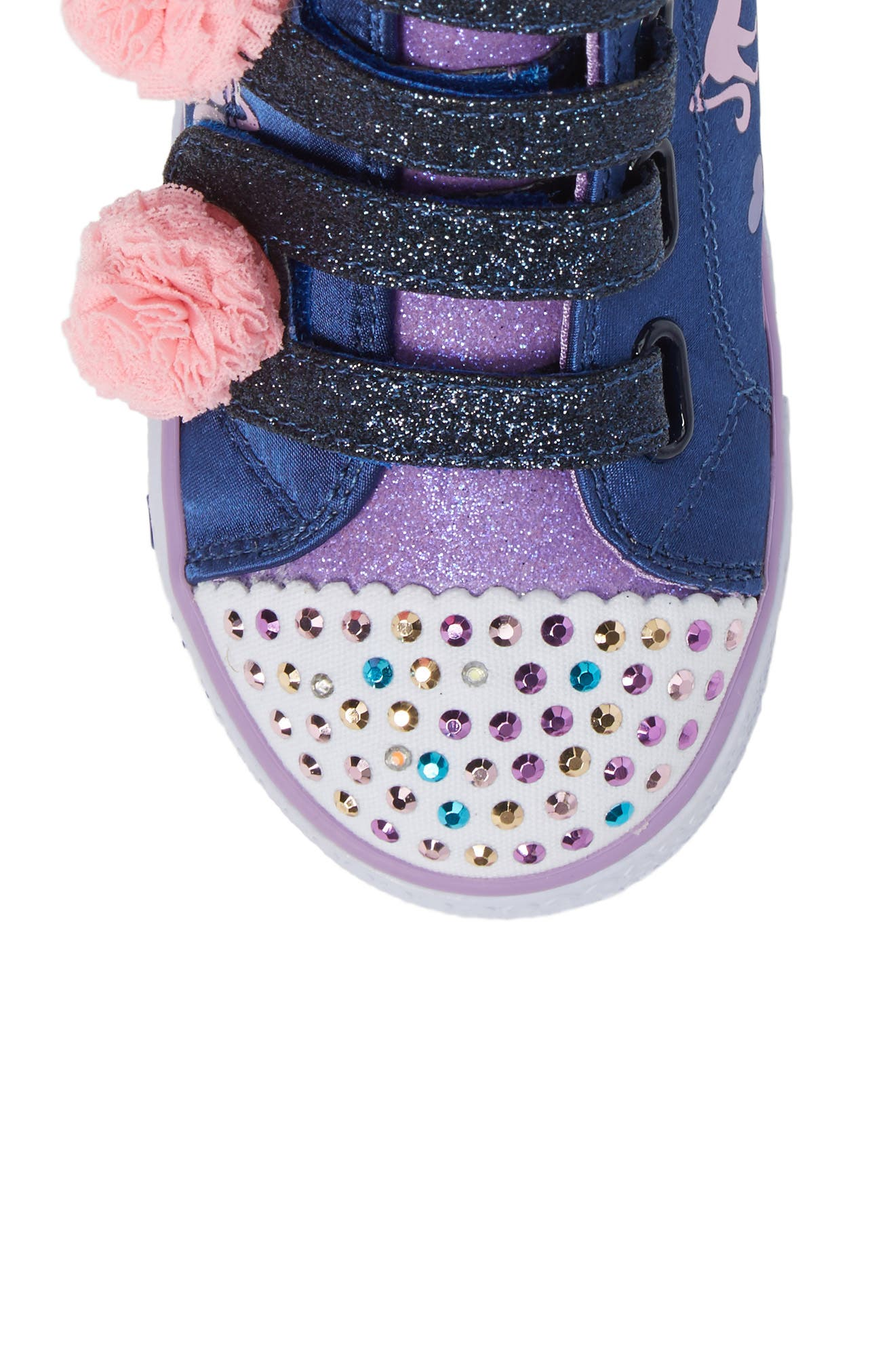 Alternate Image 5  - SKECHERS Twinkle Toes Shuffles High Top Sneaker (Walker & Toddler)