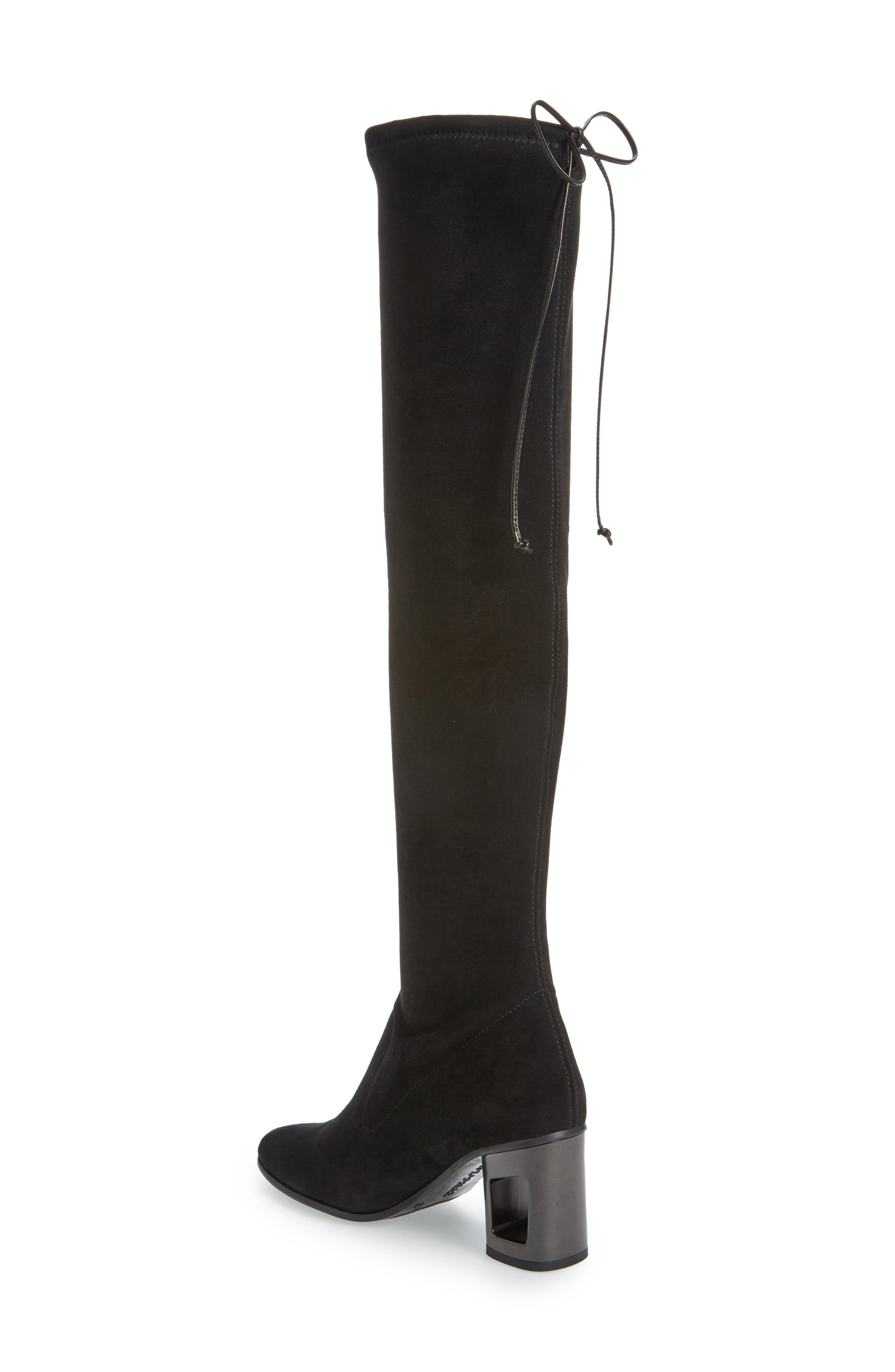 Melina Over the Knee Boot,                             Alternate thumbnail 2, color,                             Black Leather