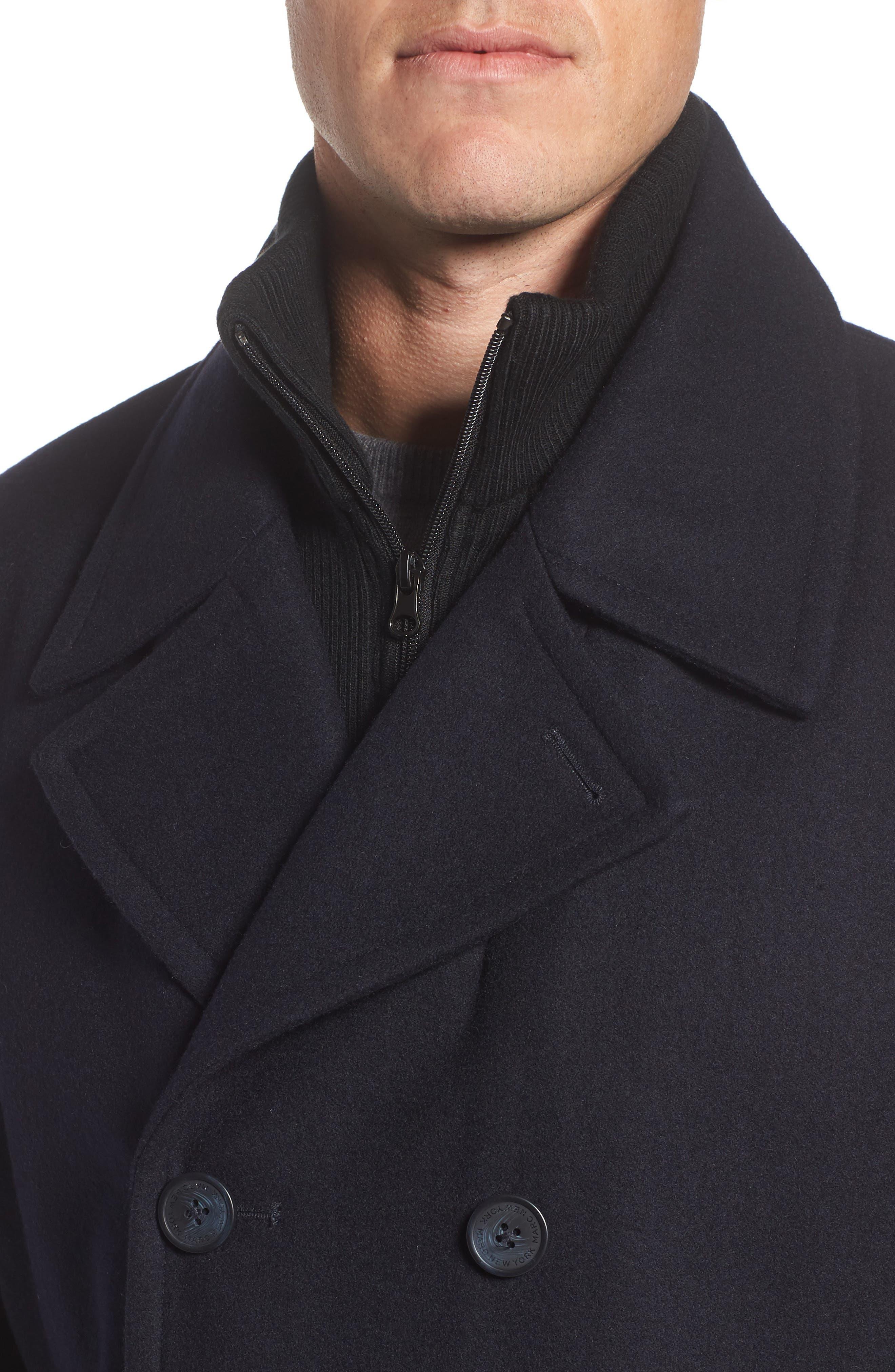 Alternate Image 4  - Marc New York Burnett Wool Blend Peacoat with Front Insert