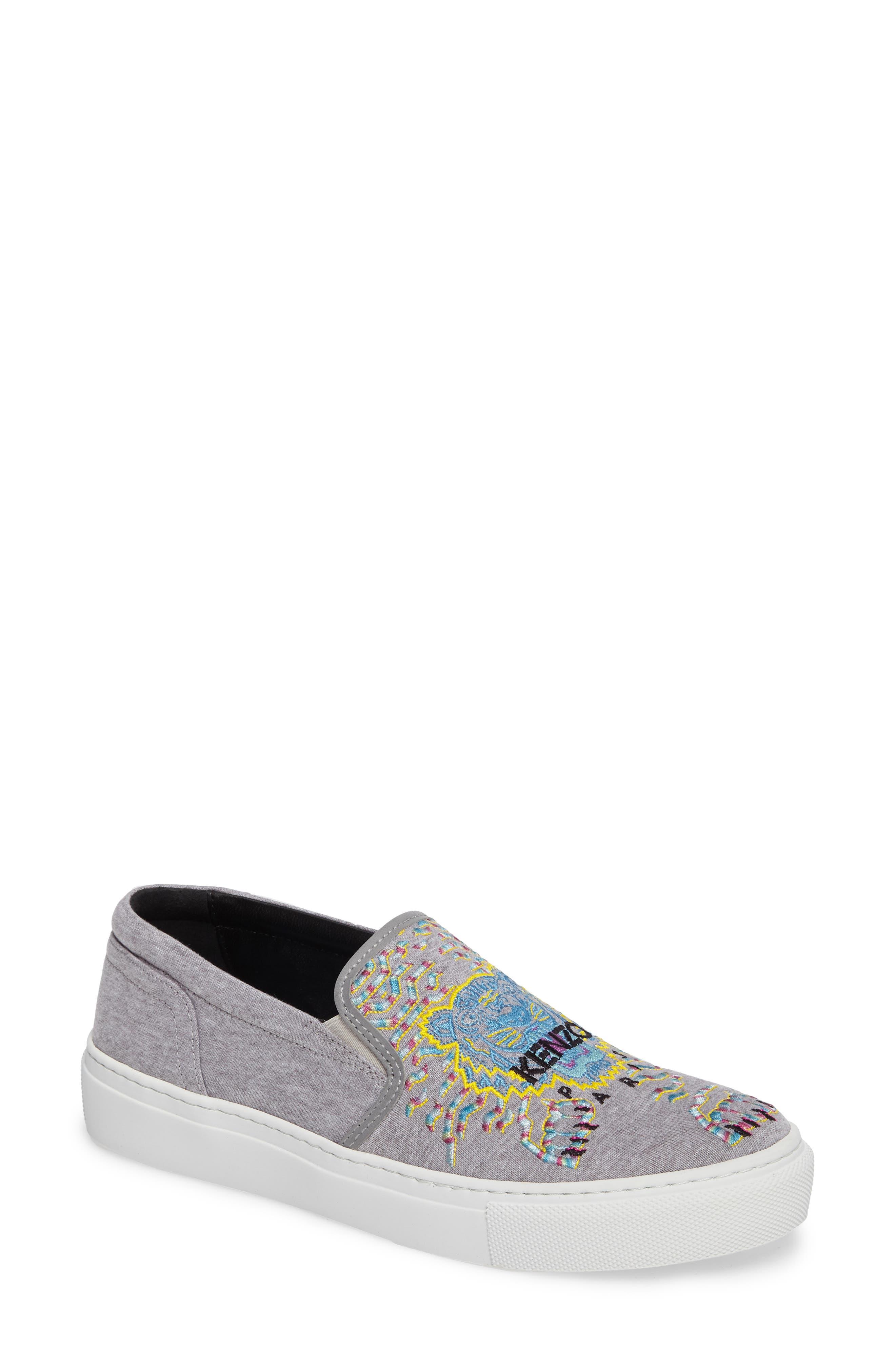 Alternate Image 1 Selected - KENZO K Skate Embroidered Slip-On Sneaker (Women)