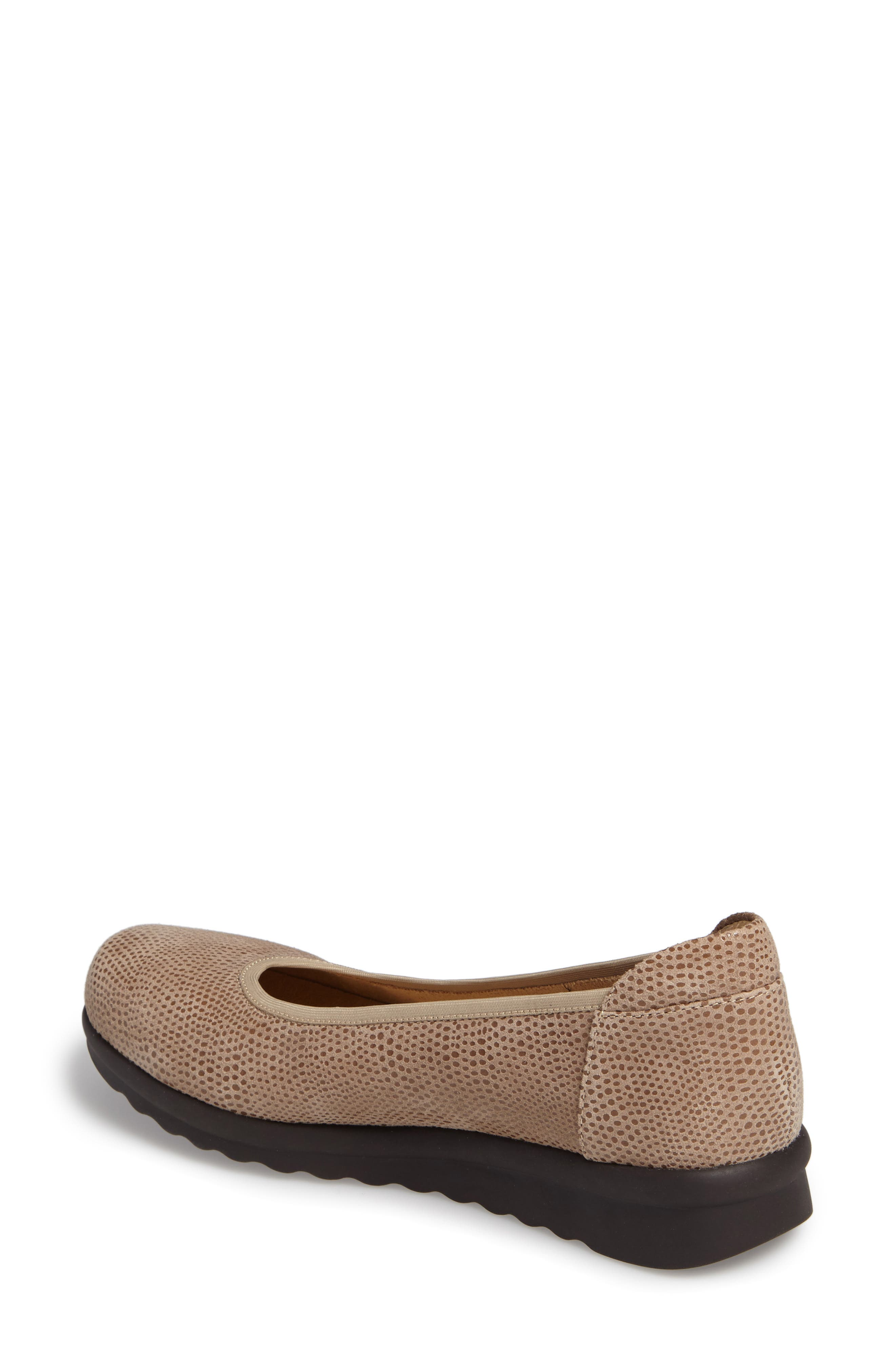 Donia Flat,                             Alternate thumbnail 2, color,                             Taupe Print Fabric