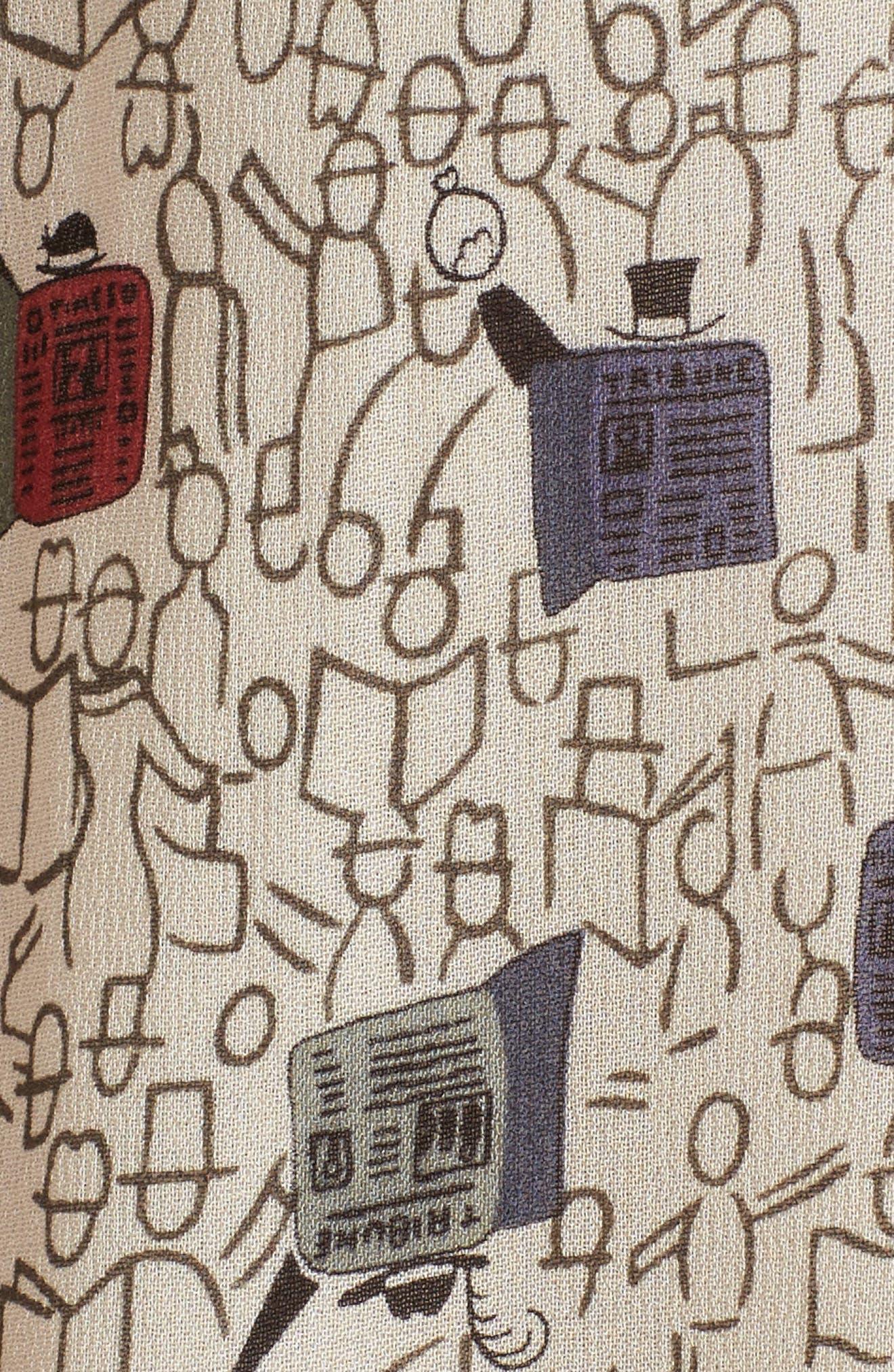 Morning Commute Detachable Tie Neck Blouse,                             Alternate thumbnail 5, color,                             Multi