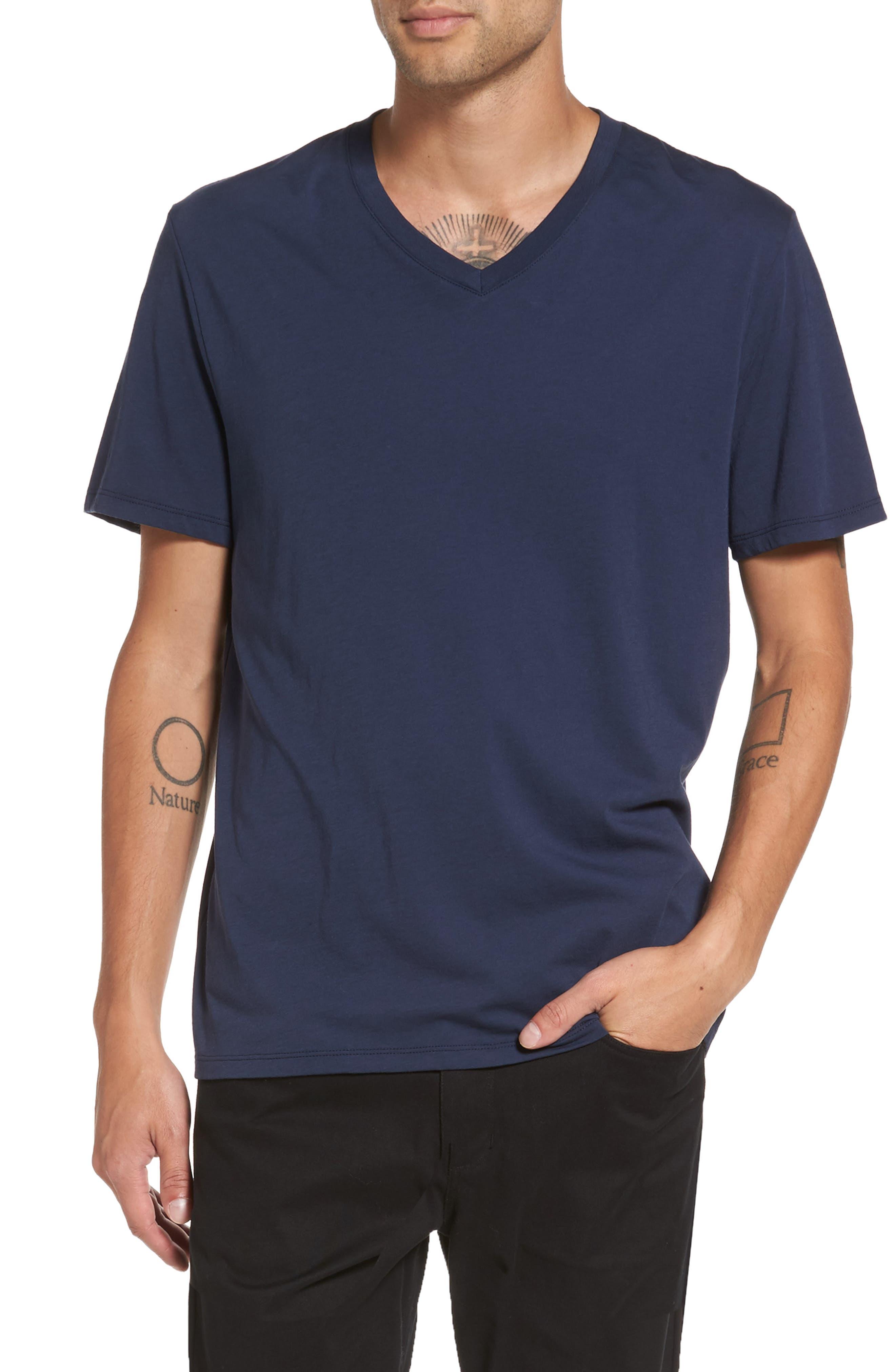 Regular Fit V-Neck T-Shirt,                         Main,                         color, Starry Night