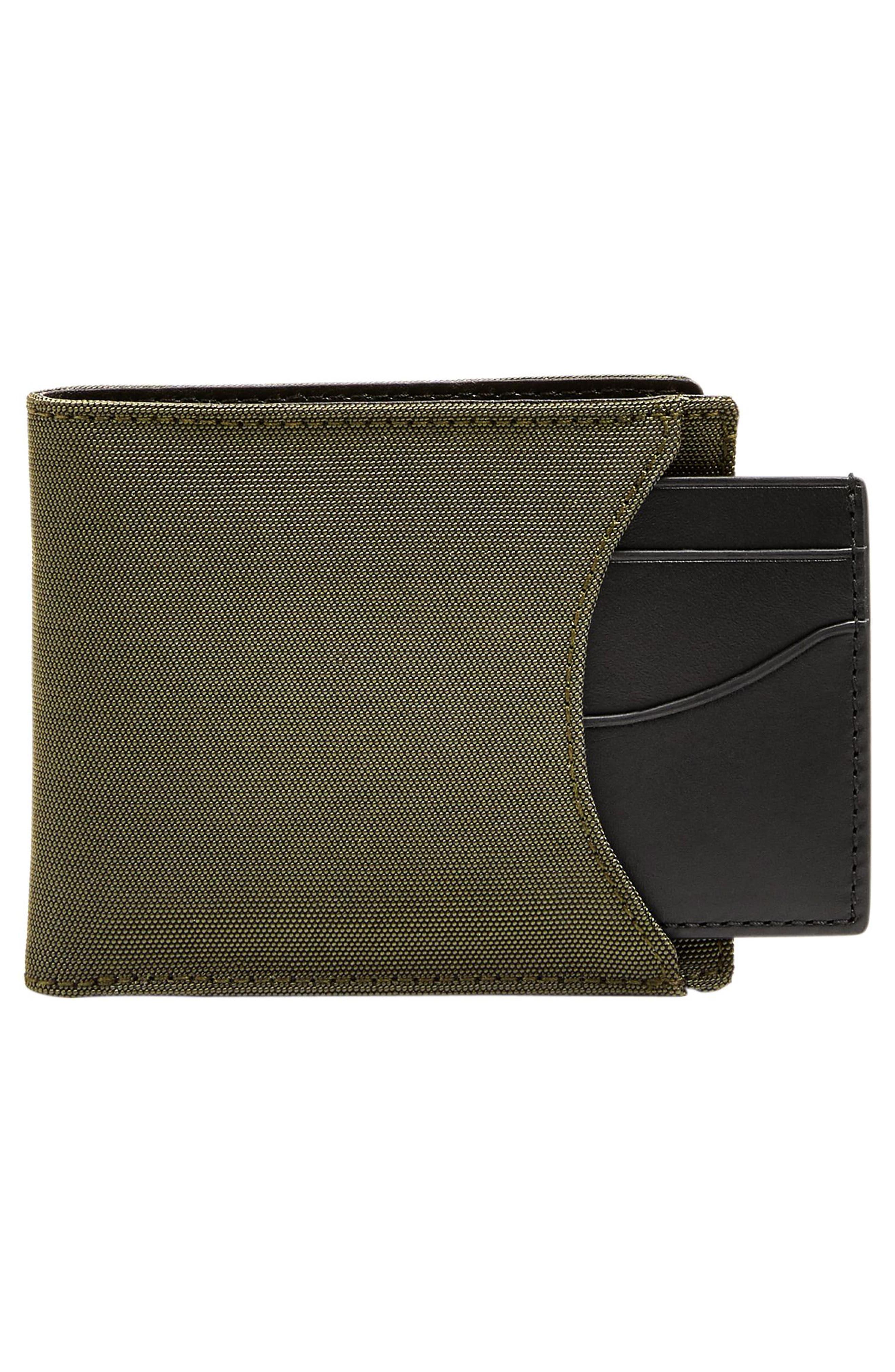 Passcase Wallet,                             Alternate thumbnail 3, color,                             Dark Green