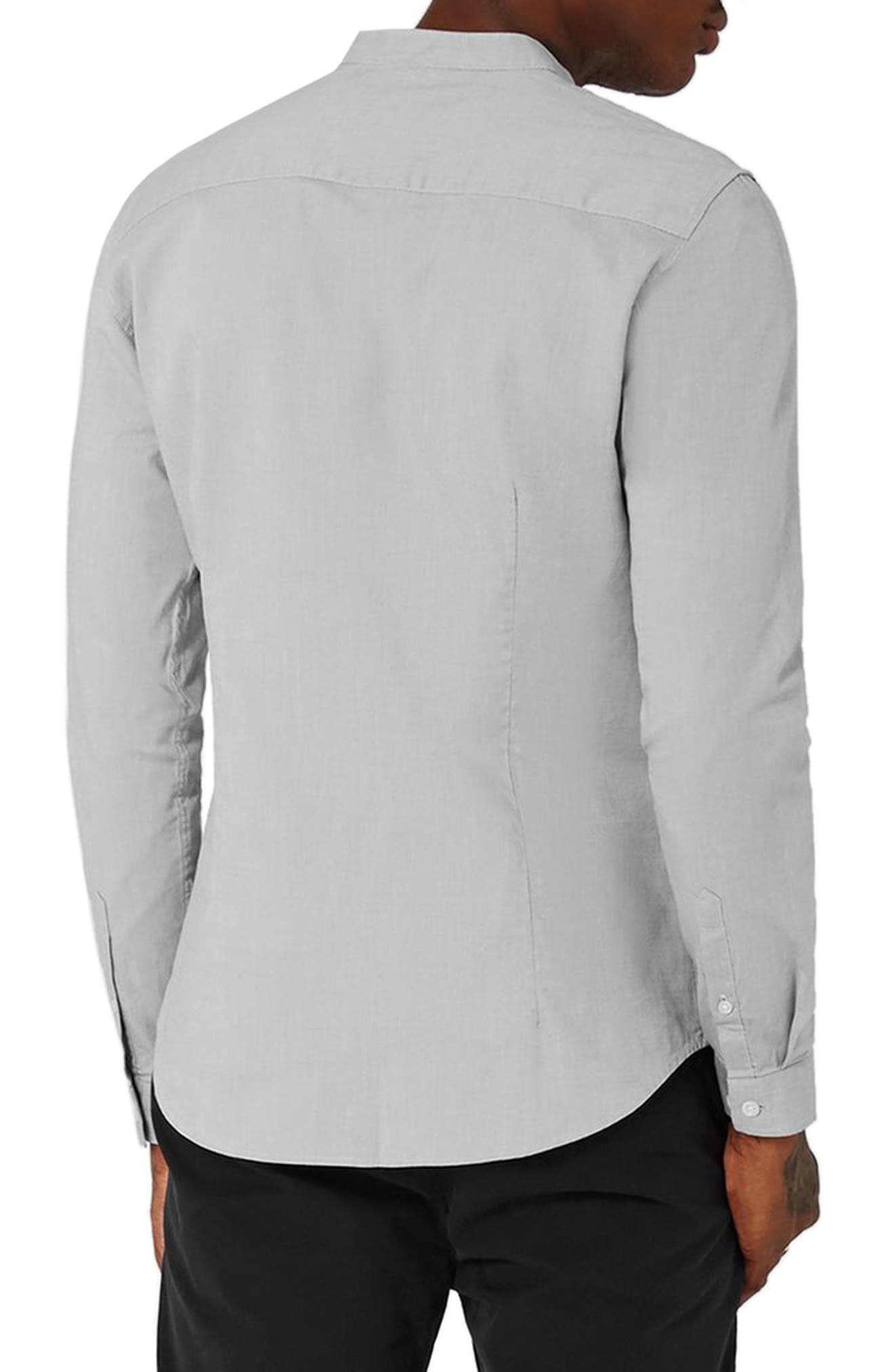 Alternate Image 2  - Topman Muscle Fit Stretch Oxford Shirt