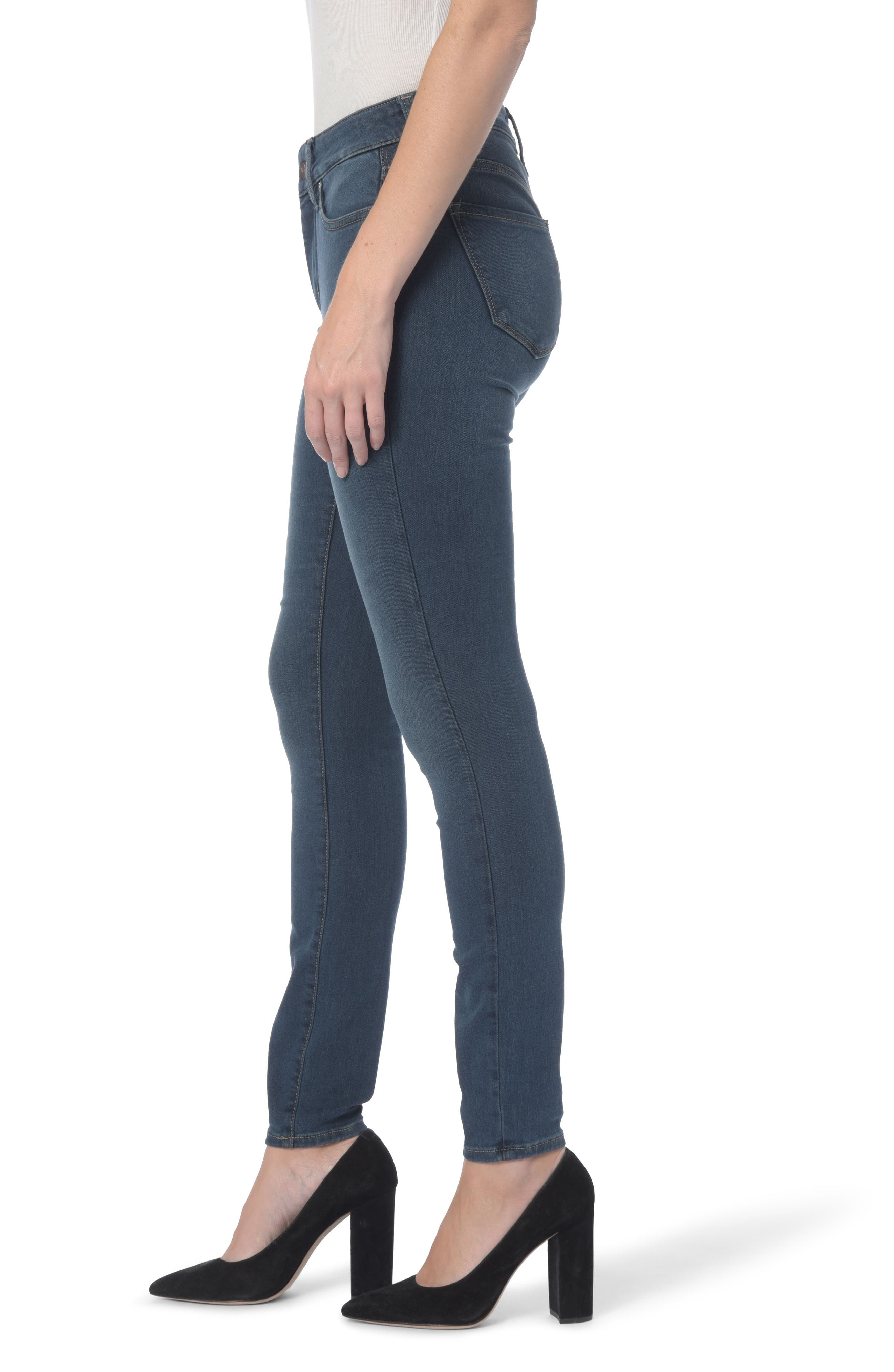 Ami Stretch Super Skinny Jeans,                             Alternate thumbnail 3, color,                             Rome