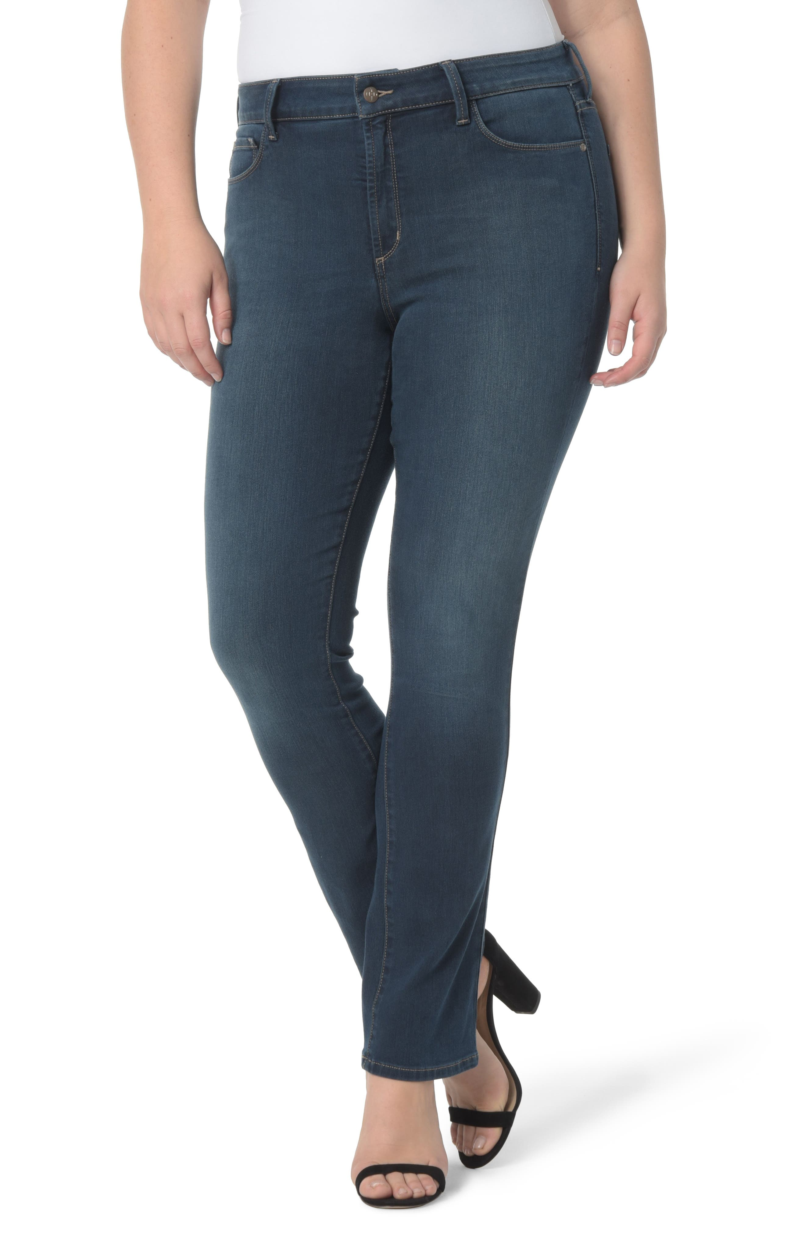 NYDJ Marilyn Stretch Straight Leg Jeans (Plus Size)