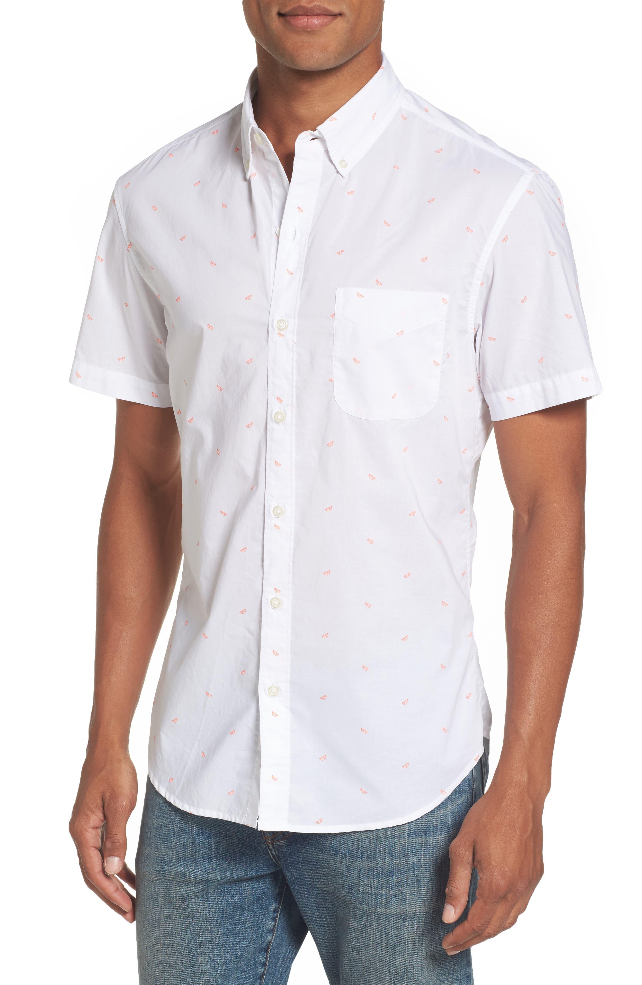 Main Image - Bonobos Riviera Slim Cut Citrus Woven Shirt