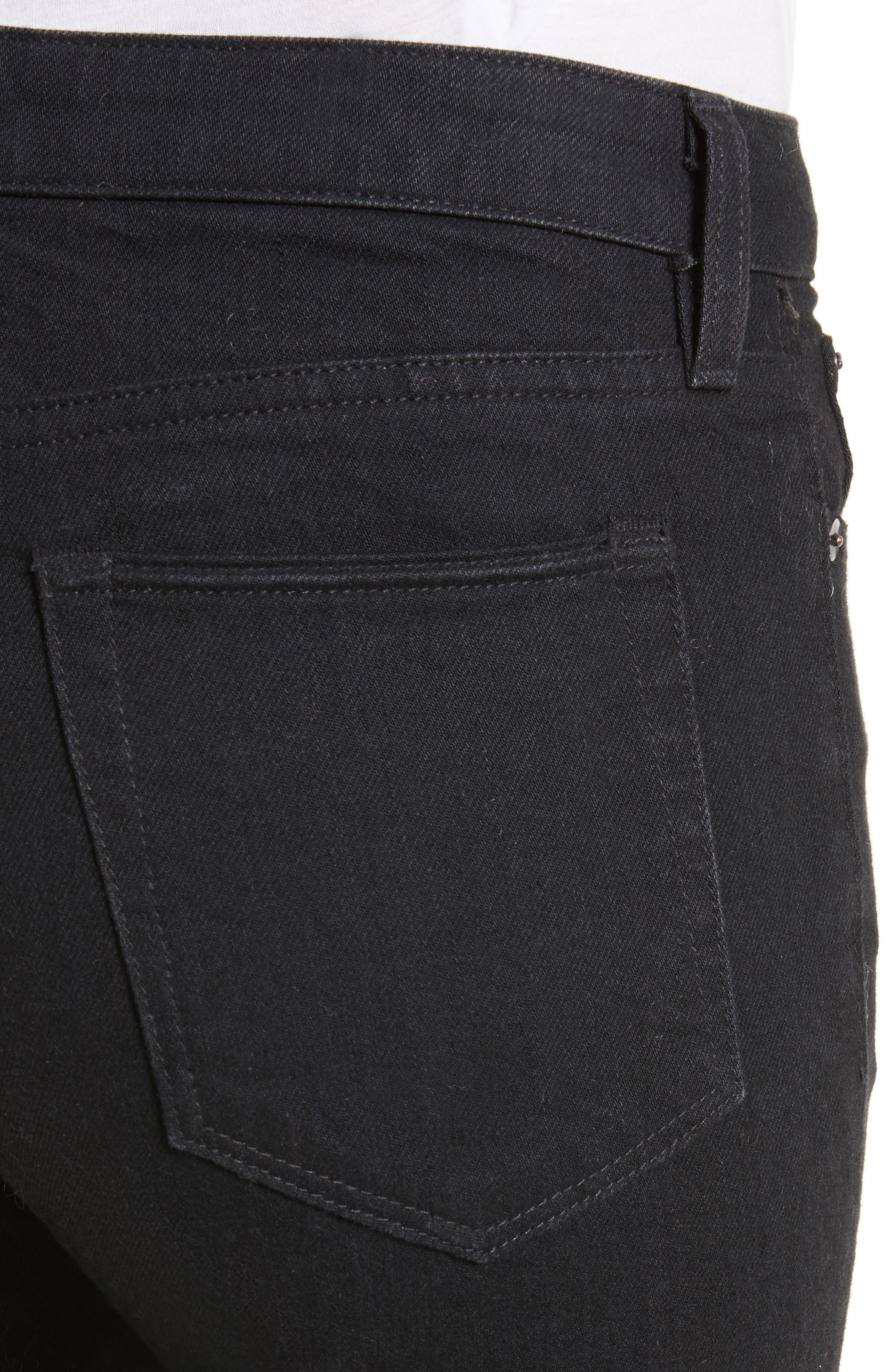 Boyd High Rise Jeans,                             Alternate thumbnail 4, color,                             Black