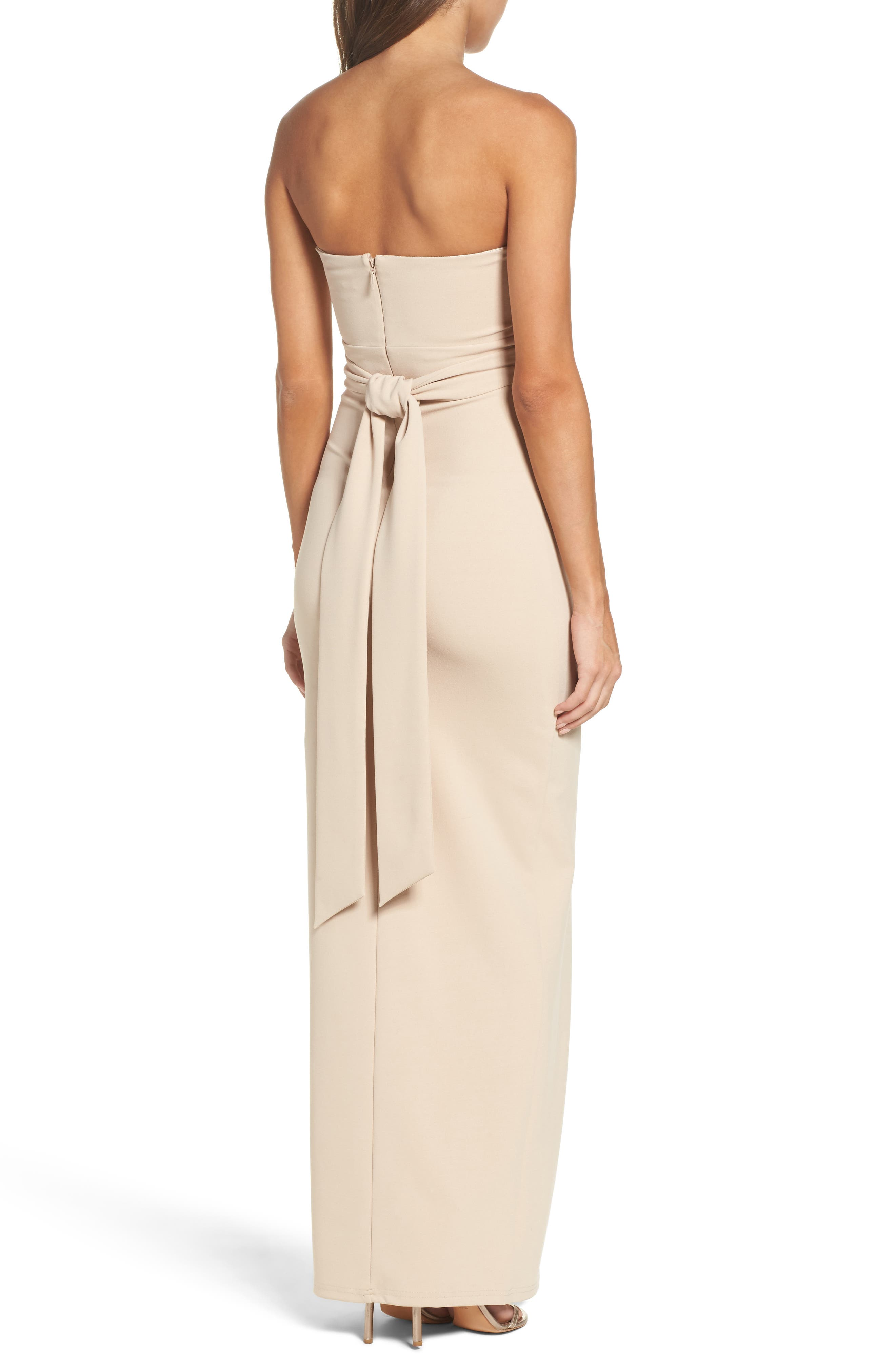 Alternate Image 2  - Lulus Own the Night Strapless Maxi Dress