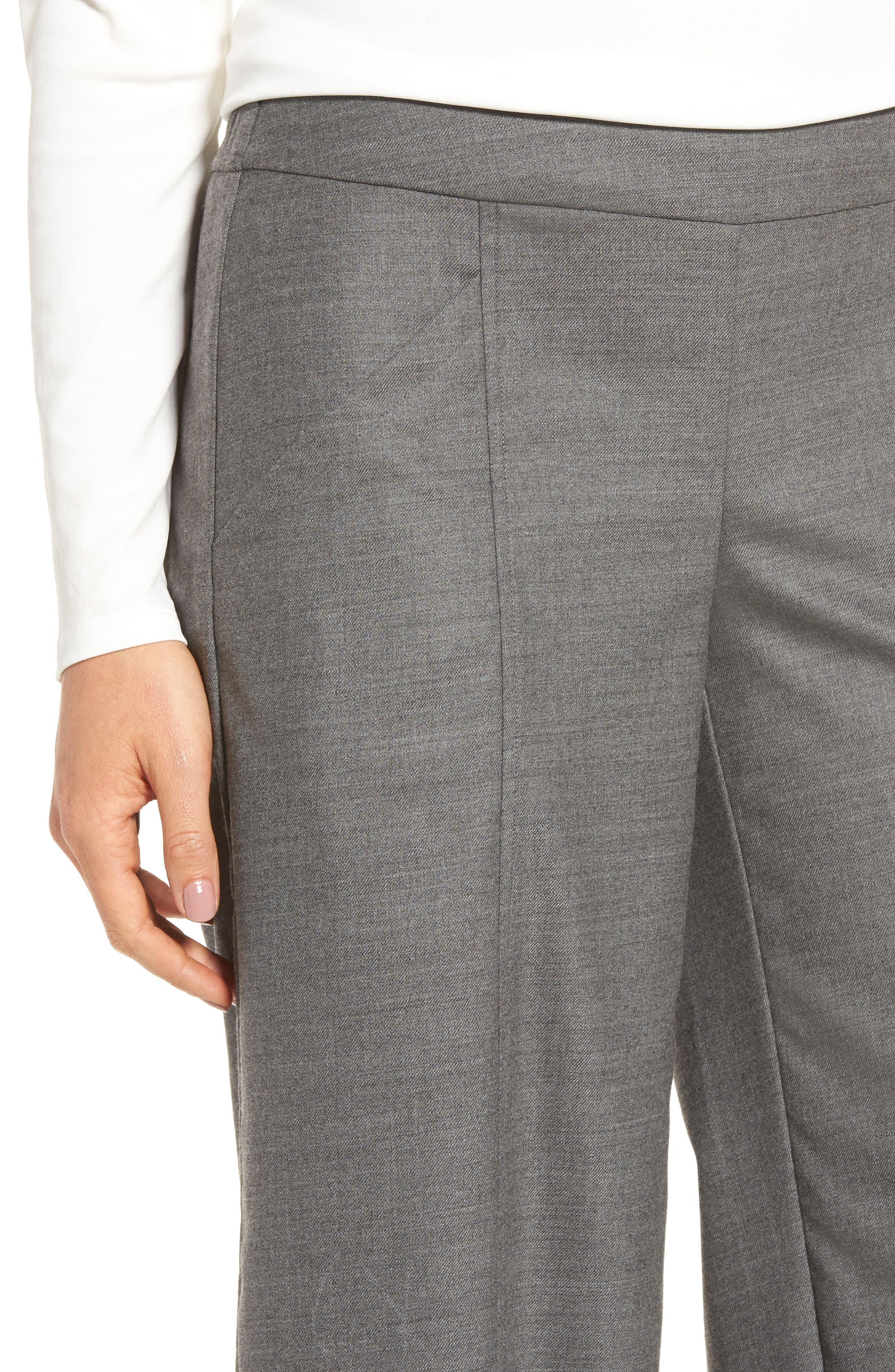 Alternate Image 4  - Eileen Fisher Crop Stretch Wool Ankle Pants