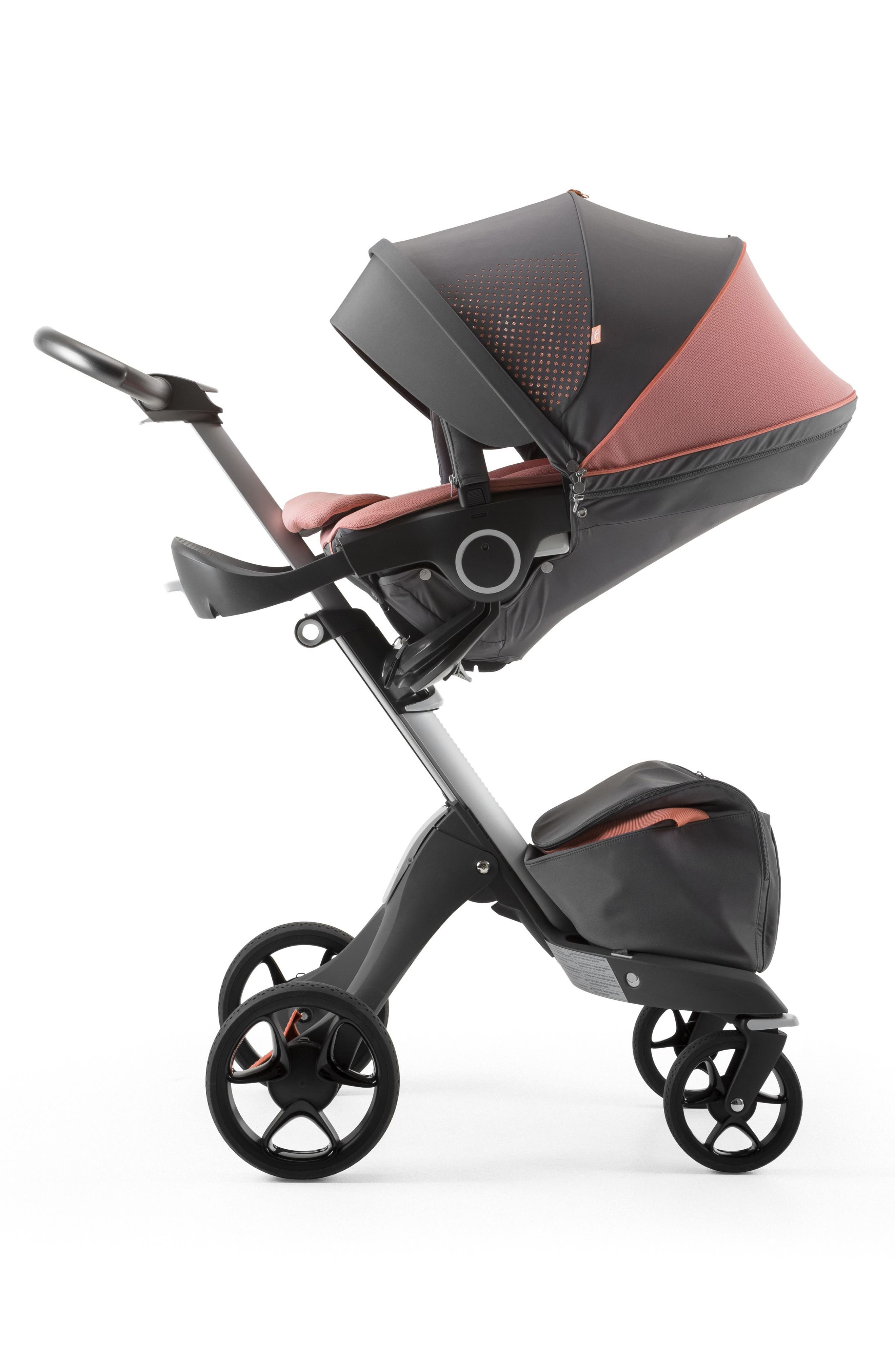 Xplory<sup>®</sup> V5 Coral Athleisure Stroller,                             Alternate thumbnail 4, color,                             Coral