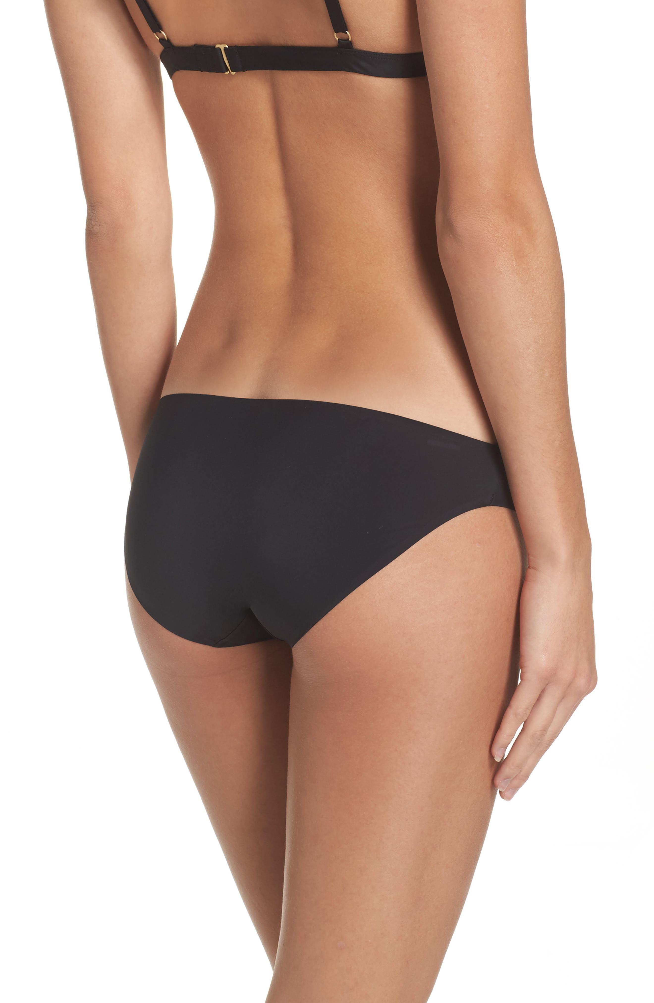 Bonded Bikini,                             Alternate thumbnail 2, color,                             True Black