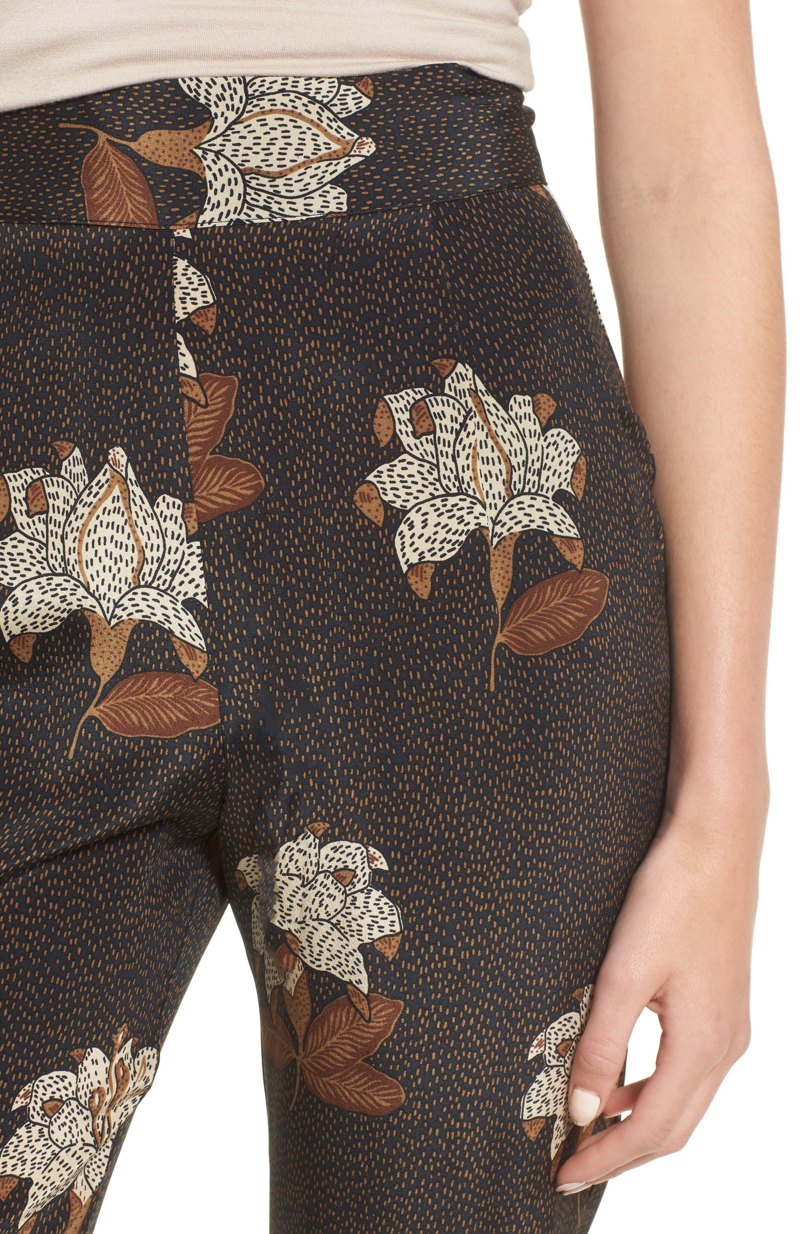 Isla Silk Crop Pants,                             Alternate thumbnail 4, color,                             Dries