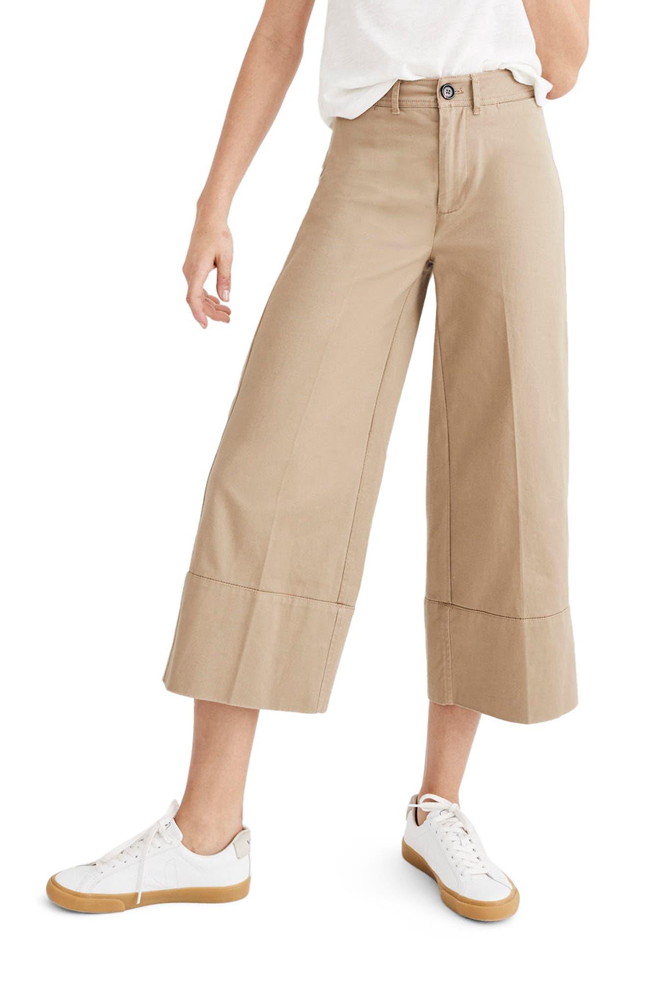 MADEWELL Wide Leg Crop Chino Pants