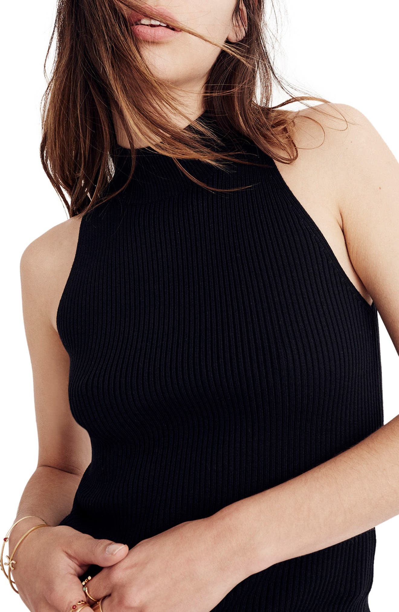 MADEWELL Mock Neck Sweater Tank