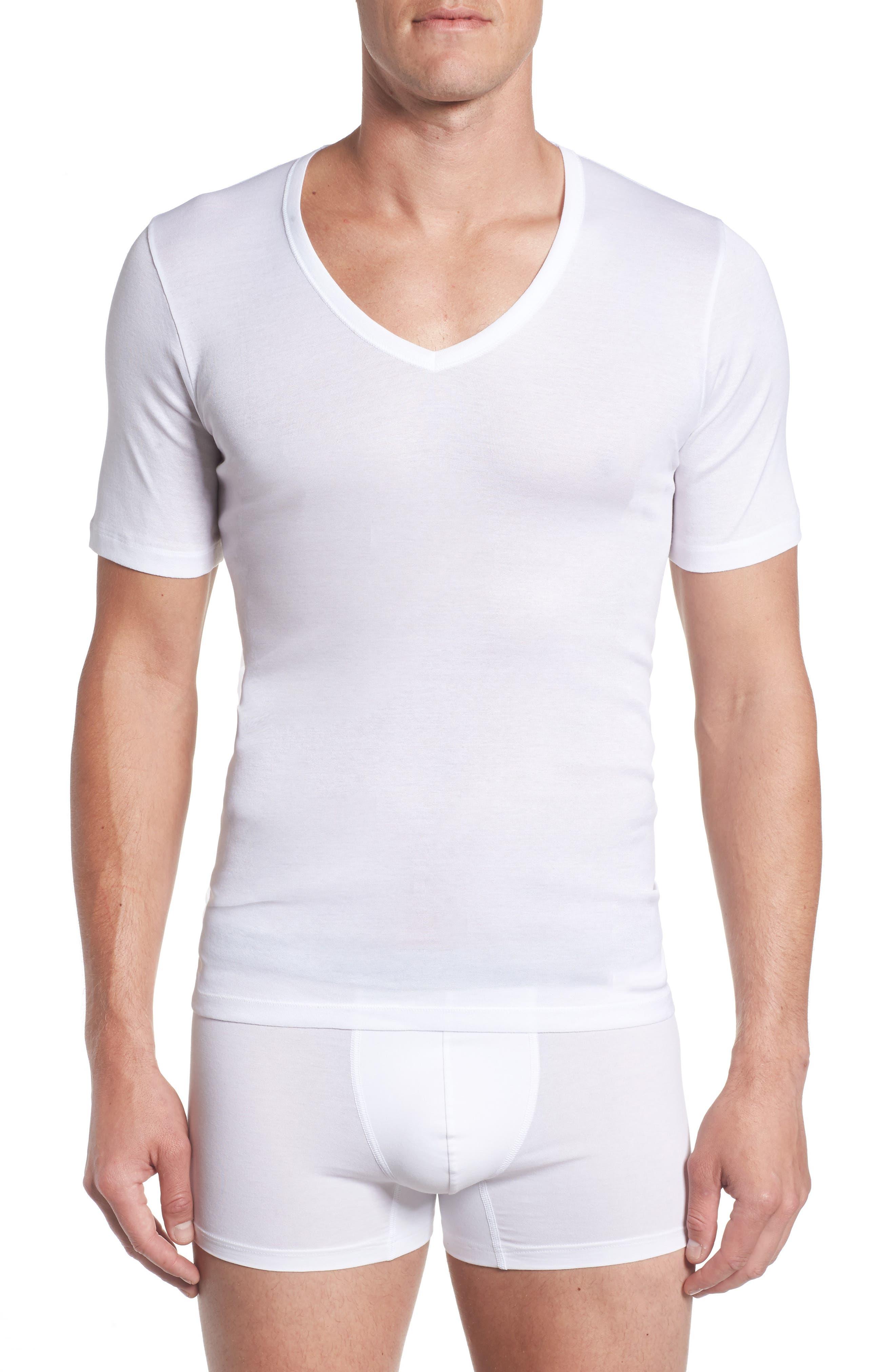 Alternate Image 1 Selected - Hanro Cotton Pure V-Neck T-Shirt
