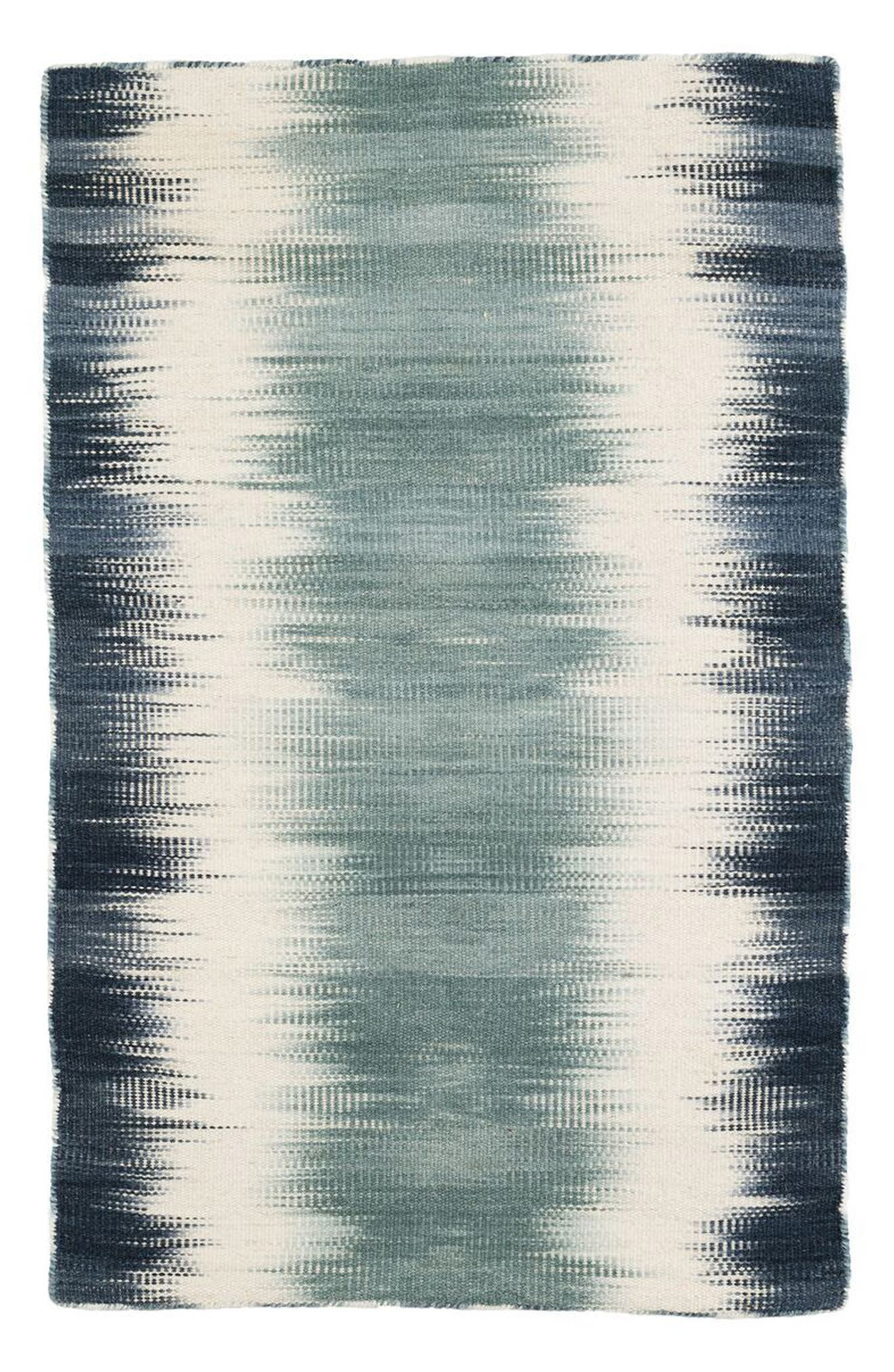 Sombre Kilim Wool Rug,                         Main,                         color, Blue