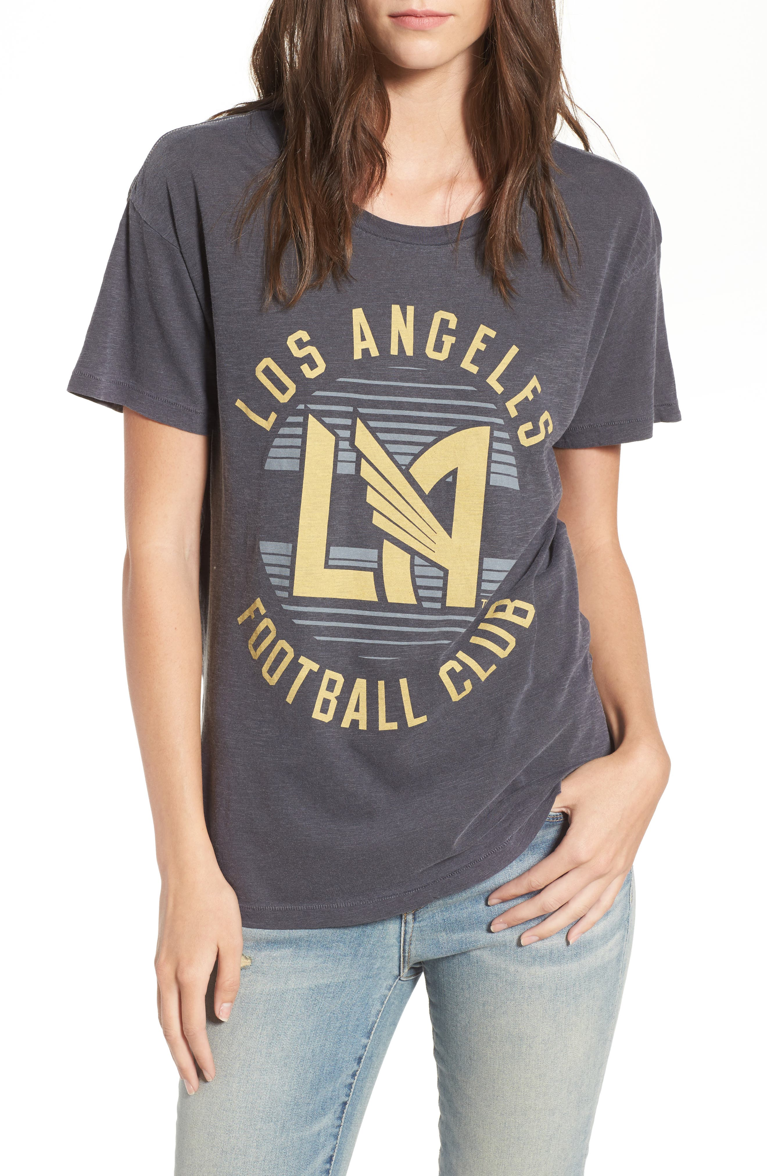 Los Angeles FC Boyfriend Tee,                             Main thumbnail 1, color,                             Jet Black