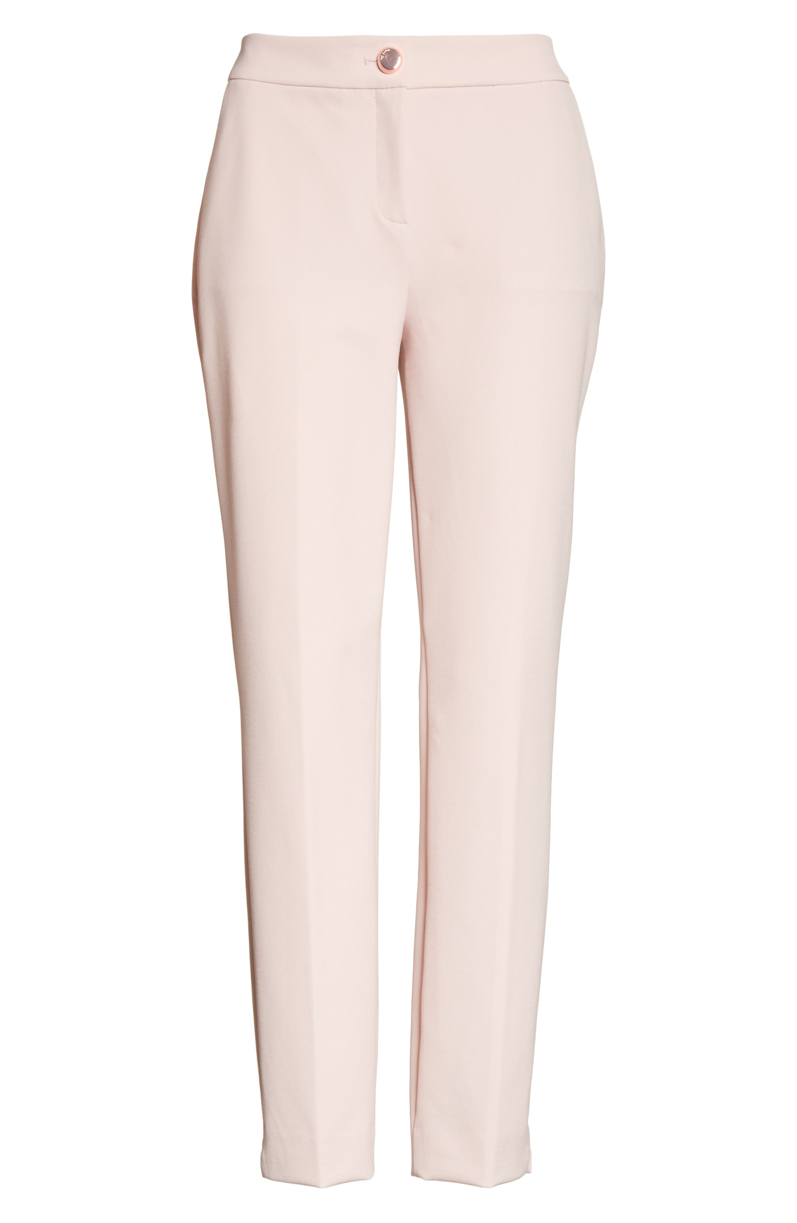 Suria Tailored Ankle Grazer Trousers,                             Alternate thumbnail 6, color,                             Pale Pink