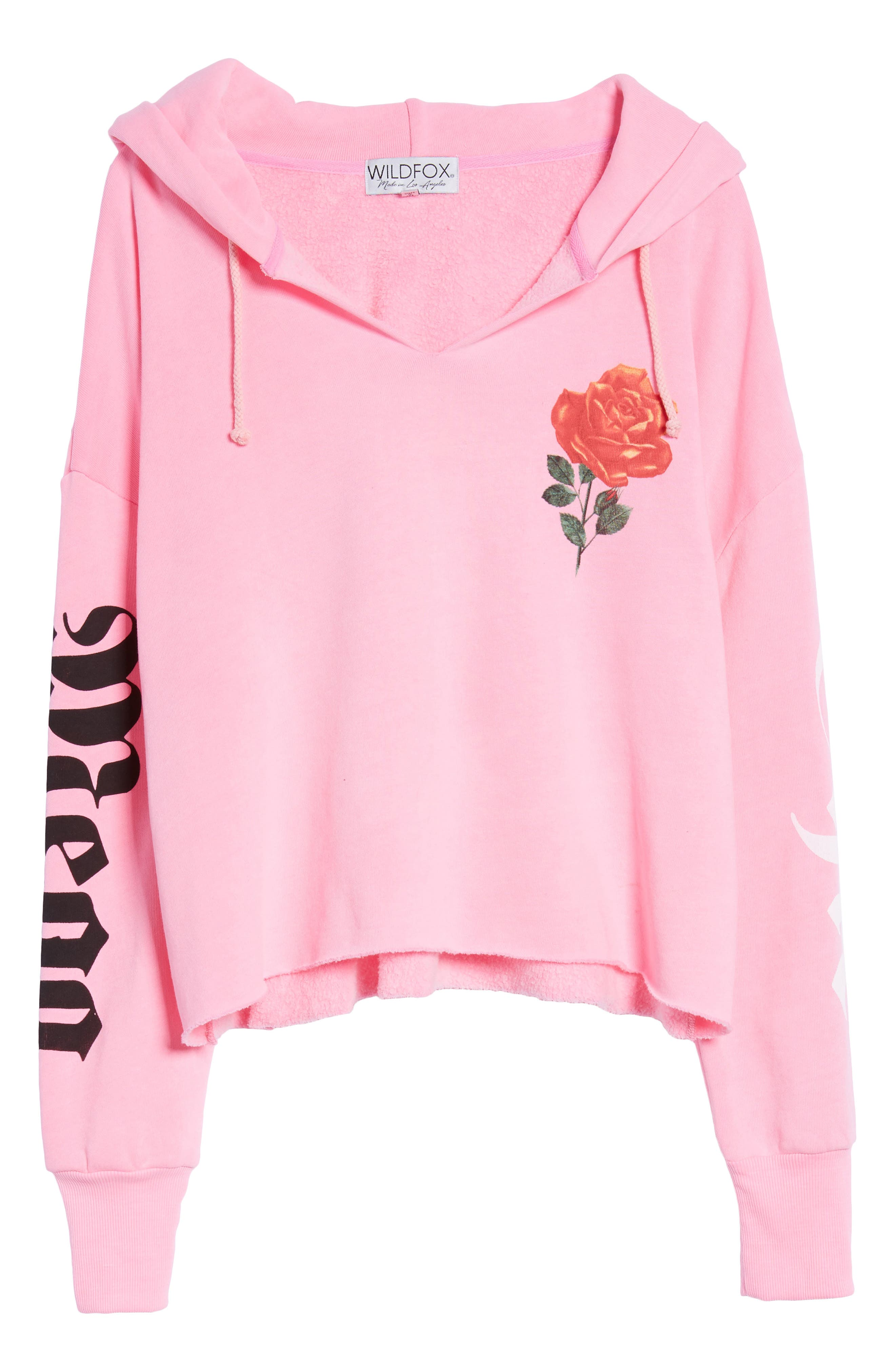 Mega Chic Freddy Hoodie,                             Alternate thumbnail 7, color,                             Neon Sign Pink