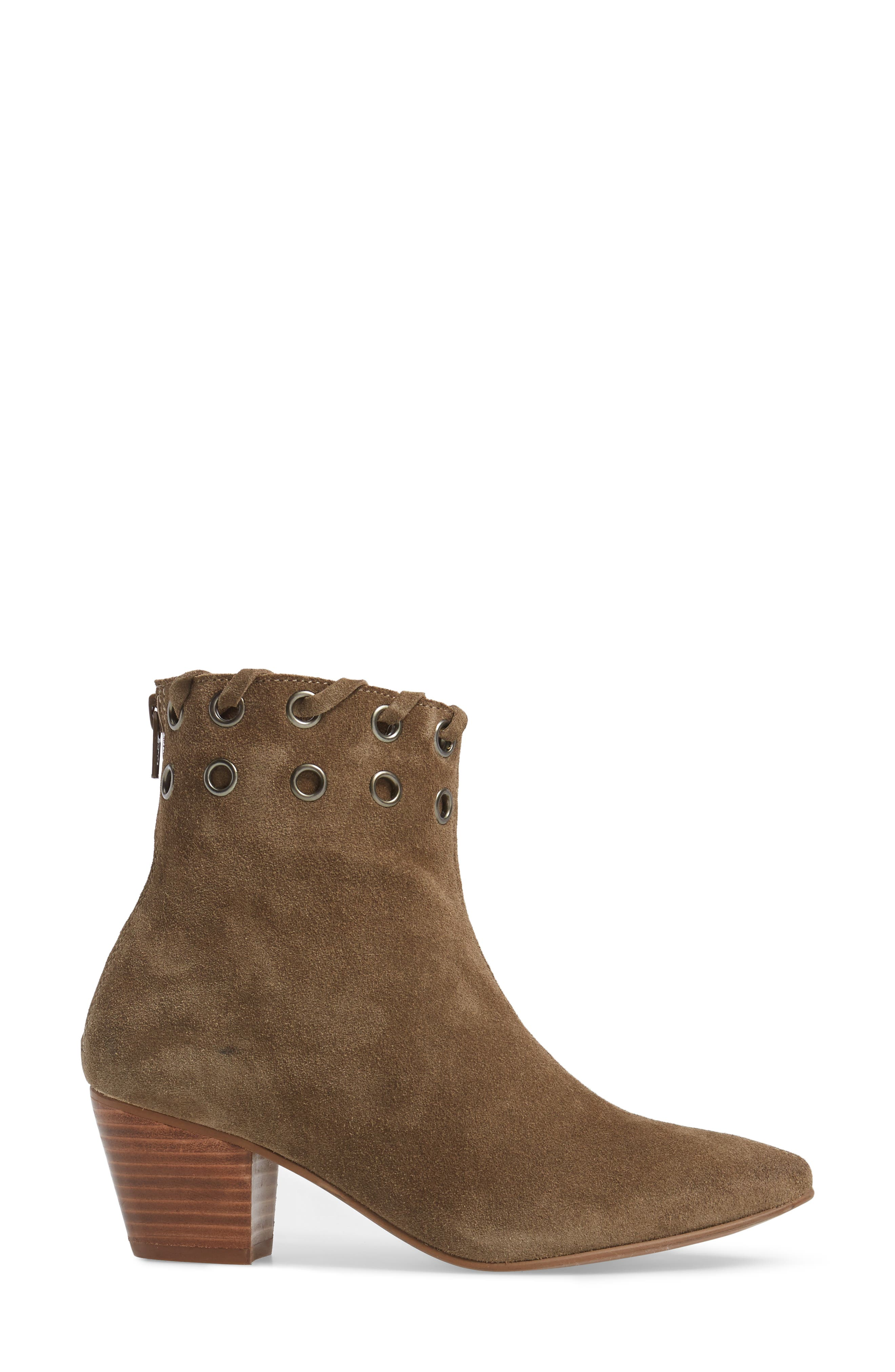 Wildcat Bootie,                             Alternate thumbnail 3, color,                             Taupe Suede