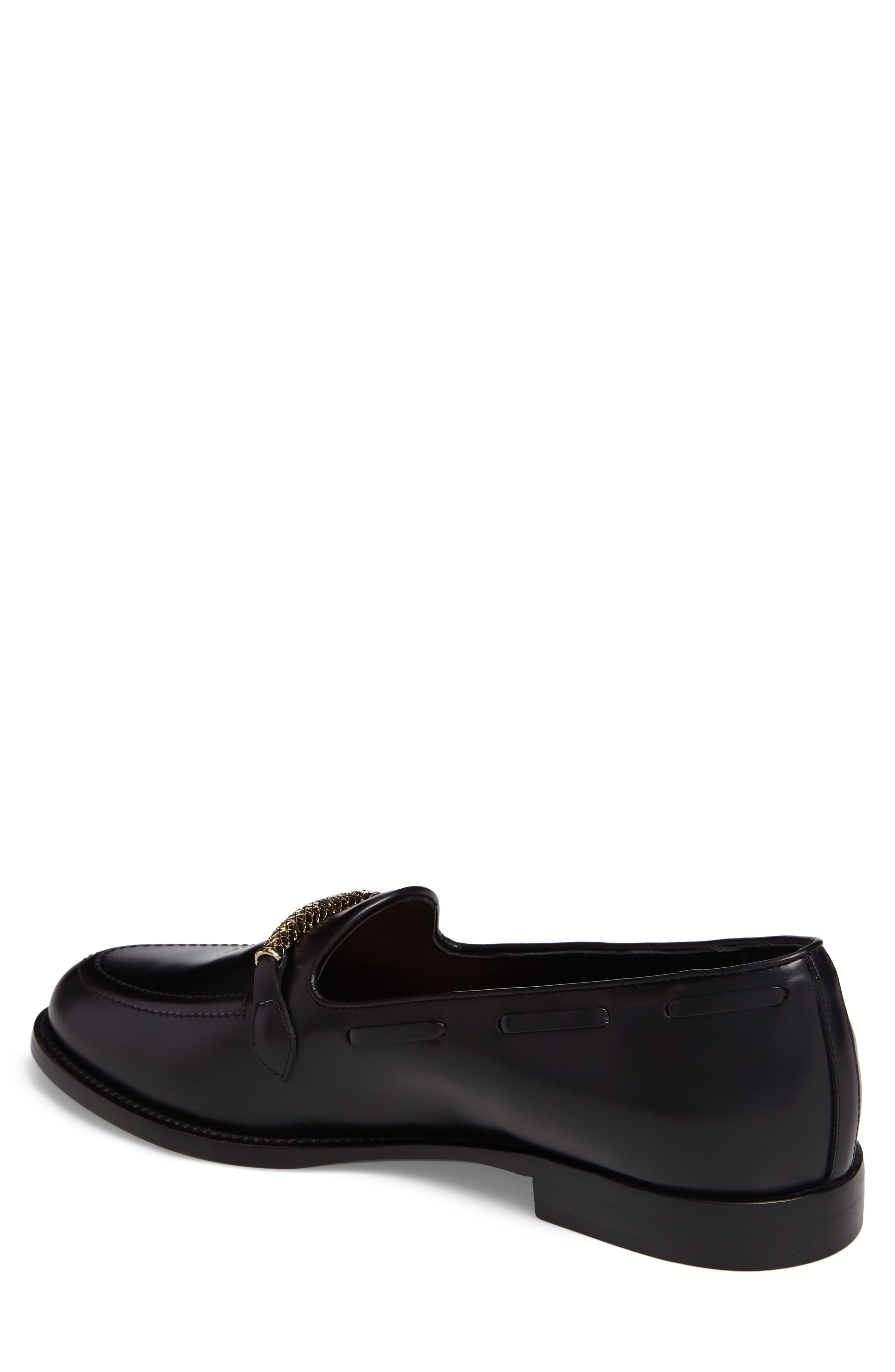 Serpent Bit Loafer,                             Alternate thumbnail 2, color,                             Nero Leather