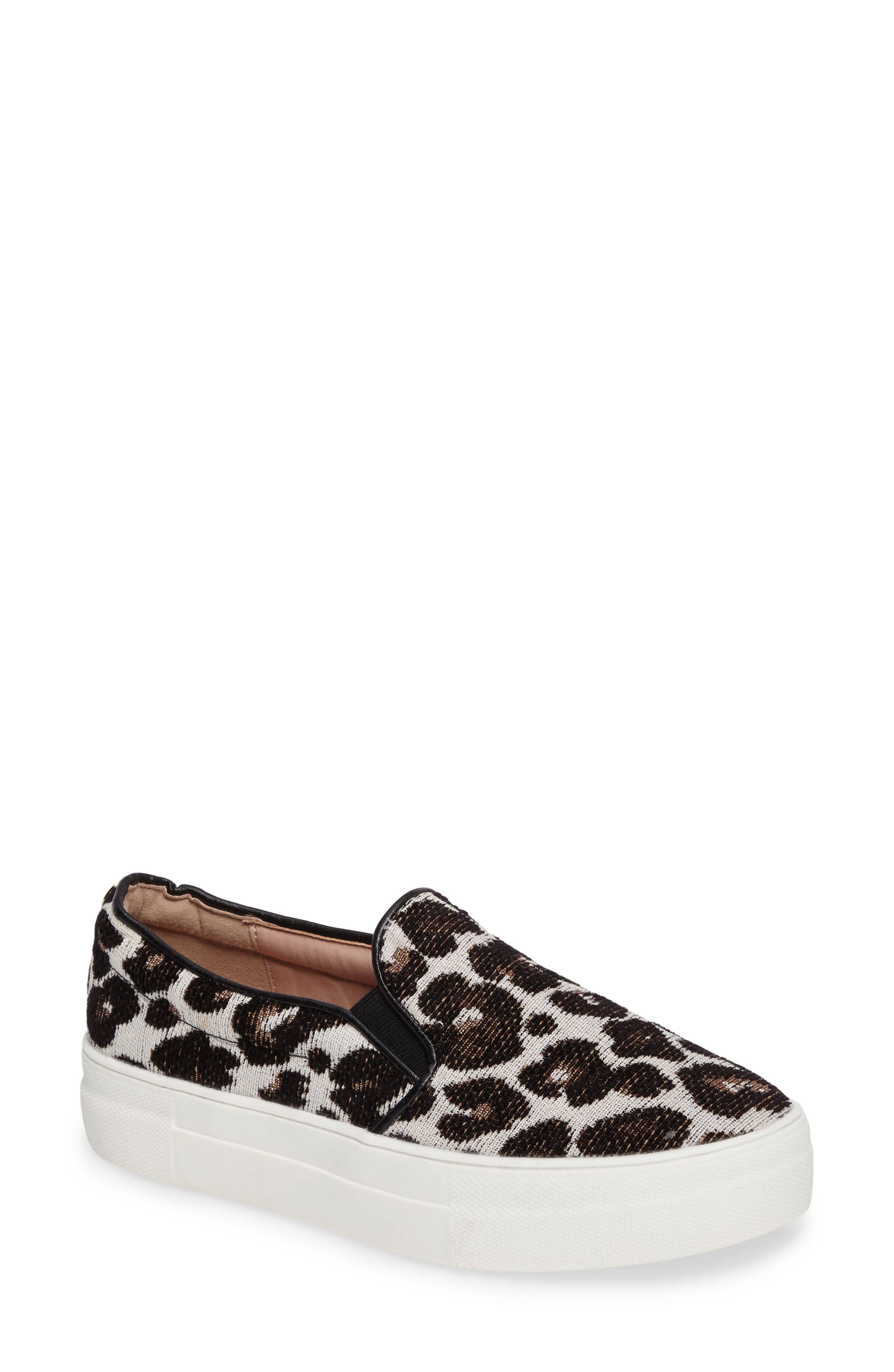 Topshop Tucker Leopard Print Slip-On Sneaker (Women)