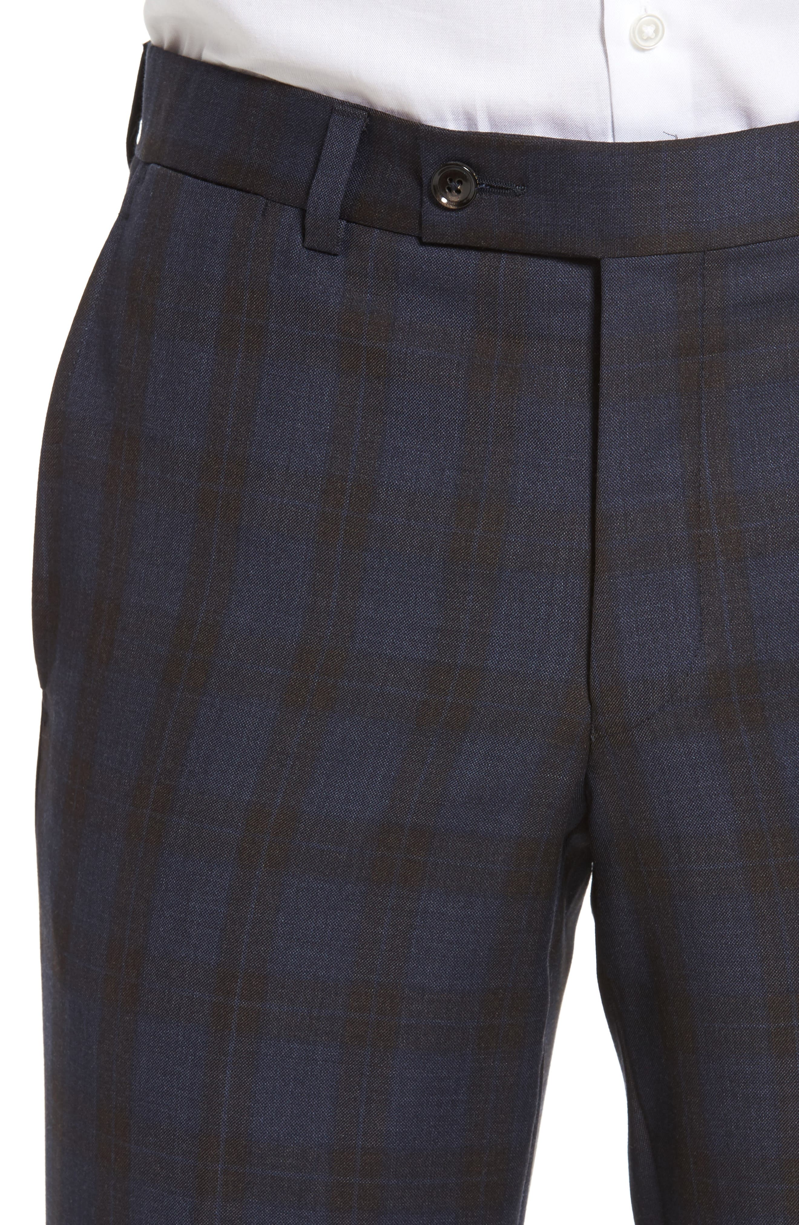 Alternate Image 5  - Ted Baker London Jefferson Flat Front Plaid Wool Trousers