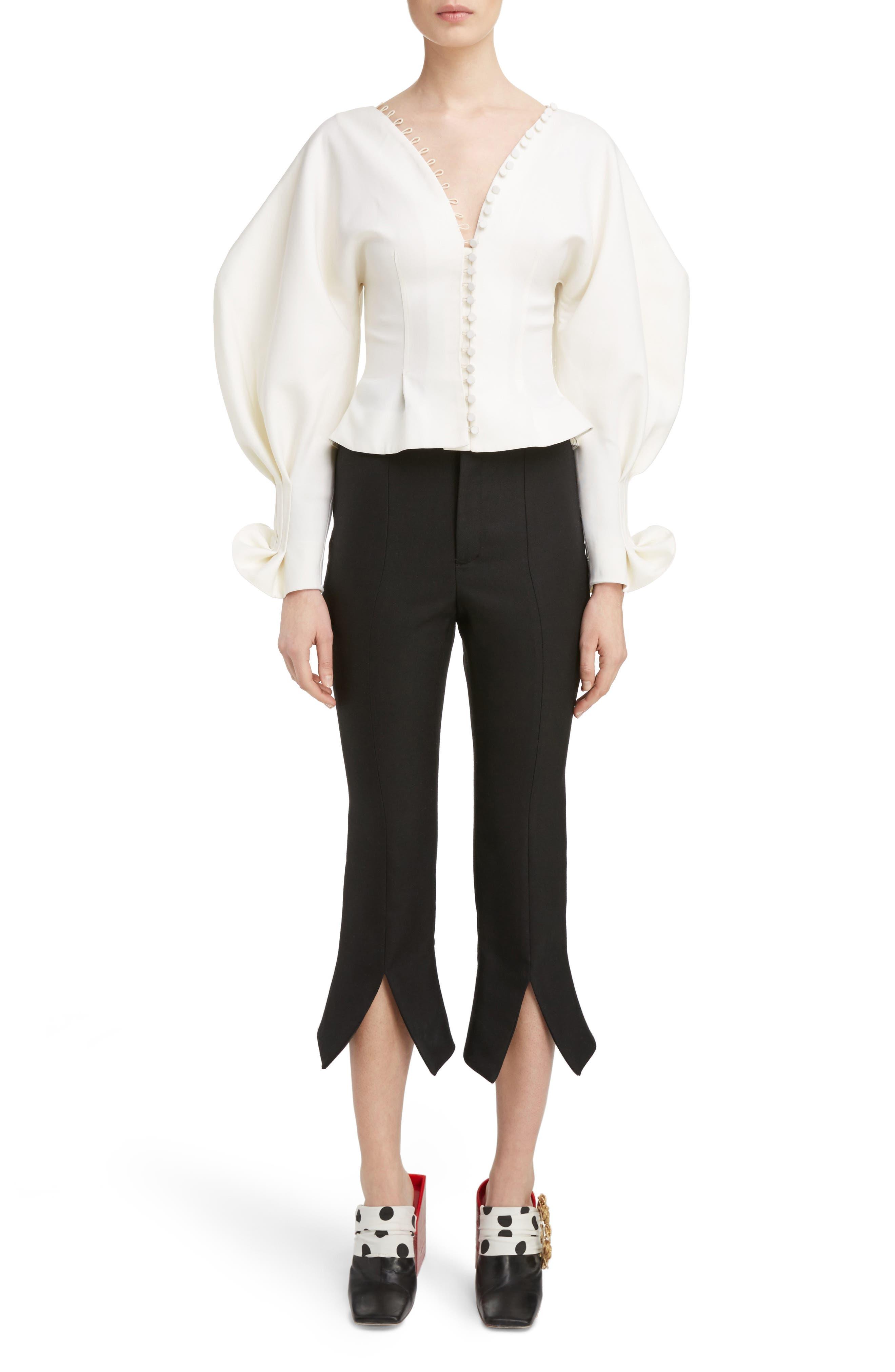 Alternate Image 6  - Jacquemus Slit Cuff Crop Flare Pants