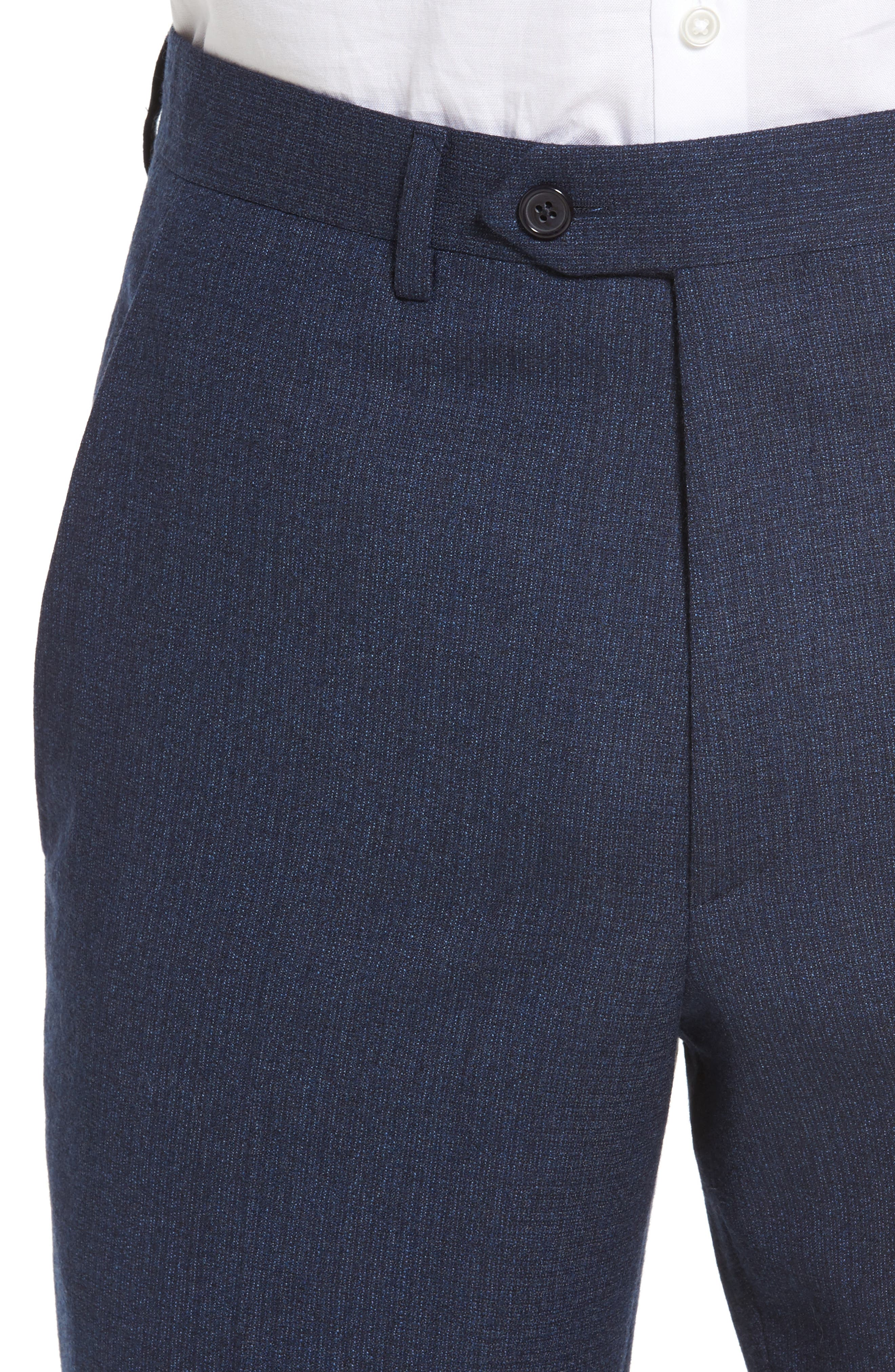 Alternate Image 4  - Santorelli Romero Regular Fit Flat Front Trousers