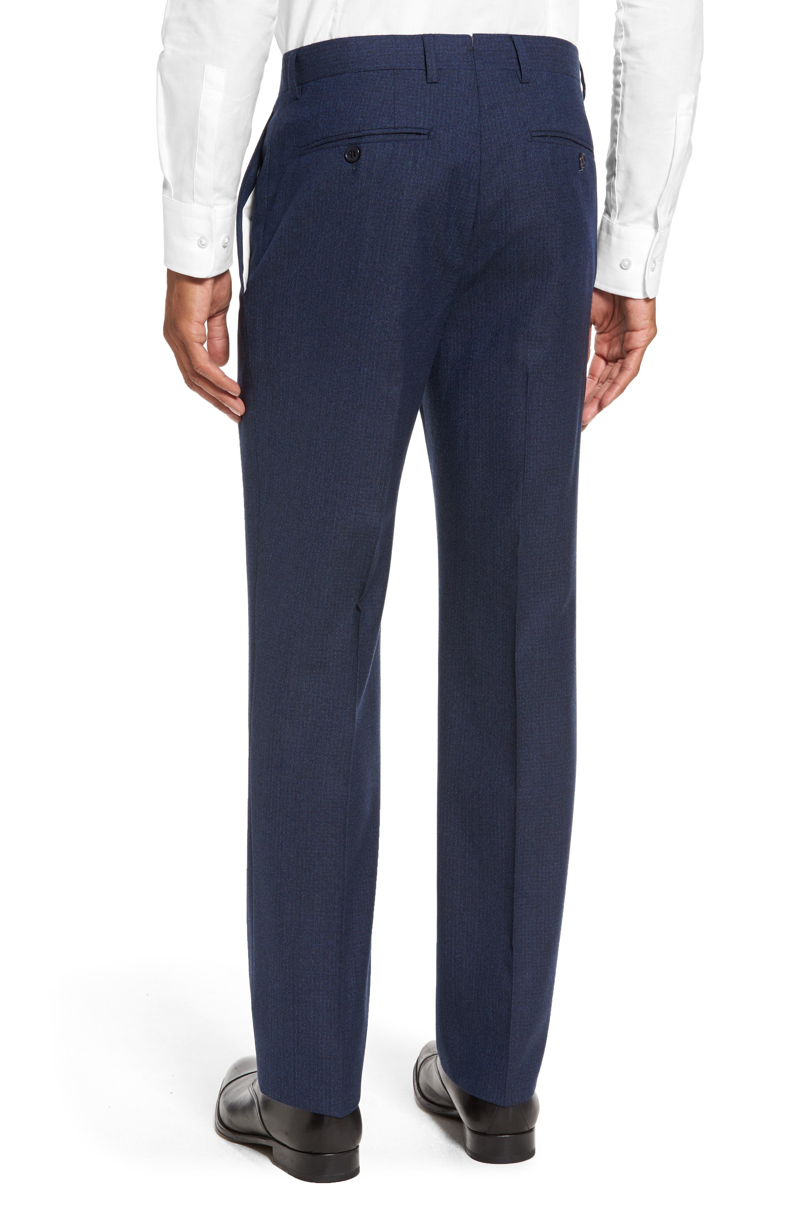 Alternate Image 2  - Santorelli Romero Regular Fit Flat Front Trousers