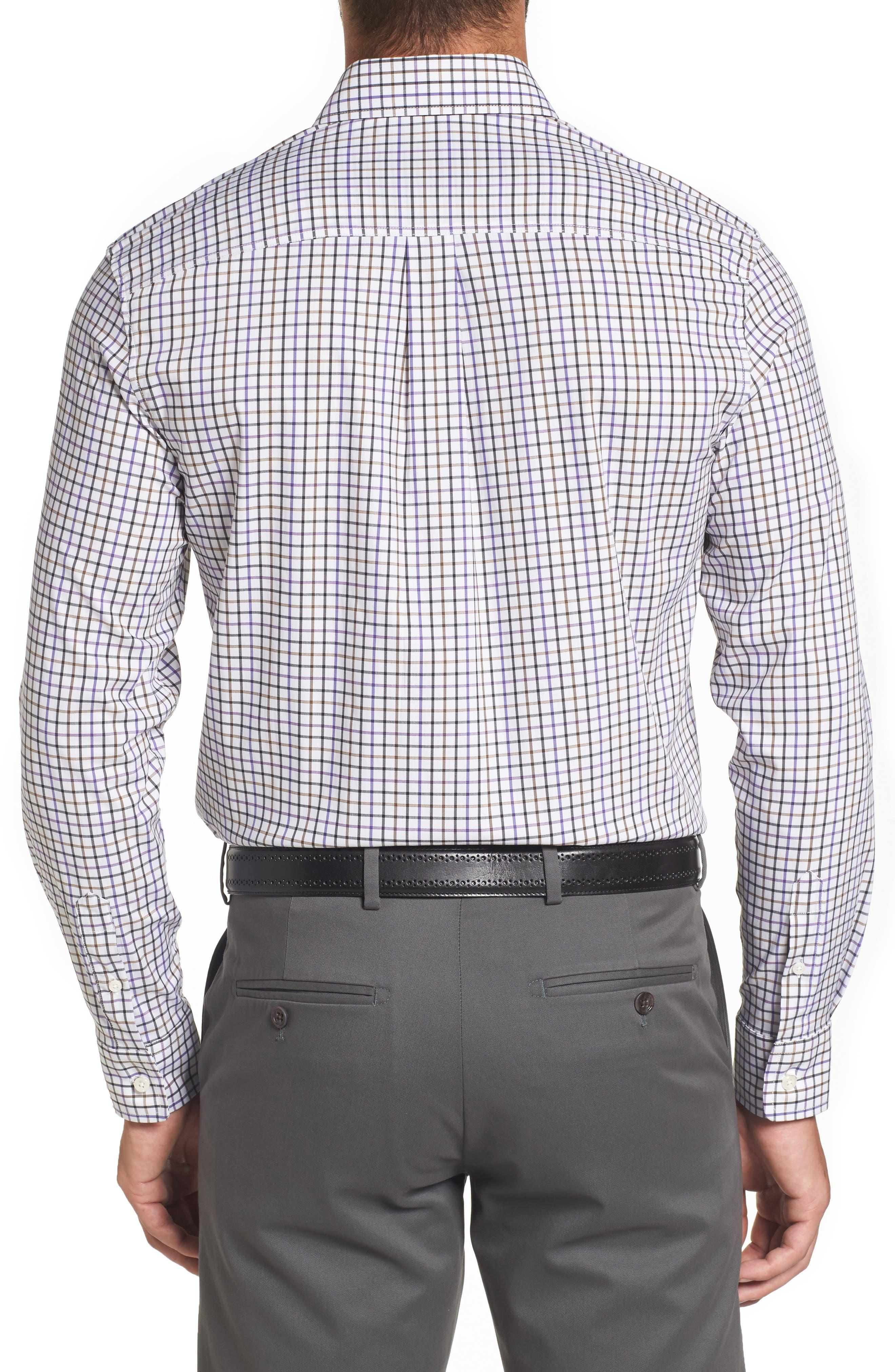 Merion Tattersall Sport Shirt,                             Alternate thumbnail 2, color,                             Viola