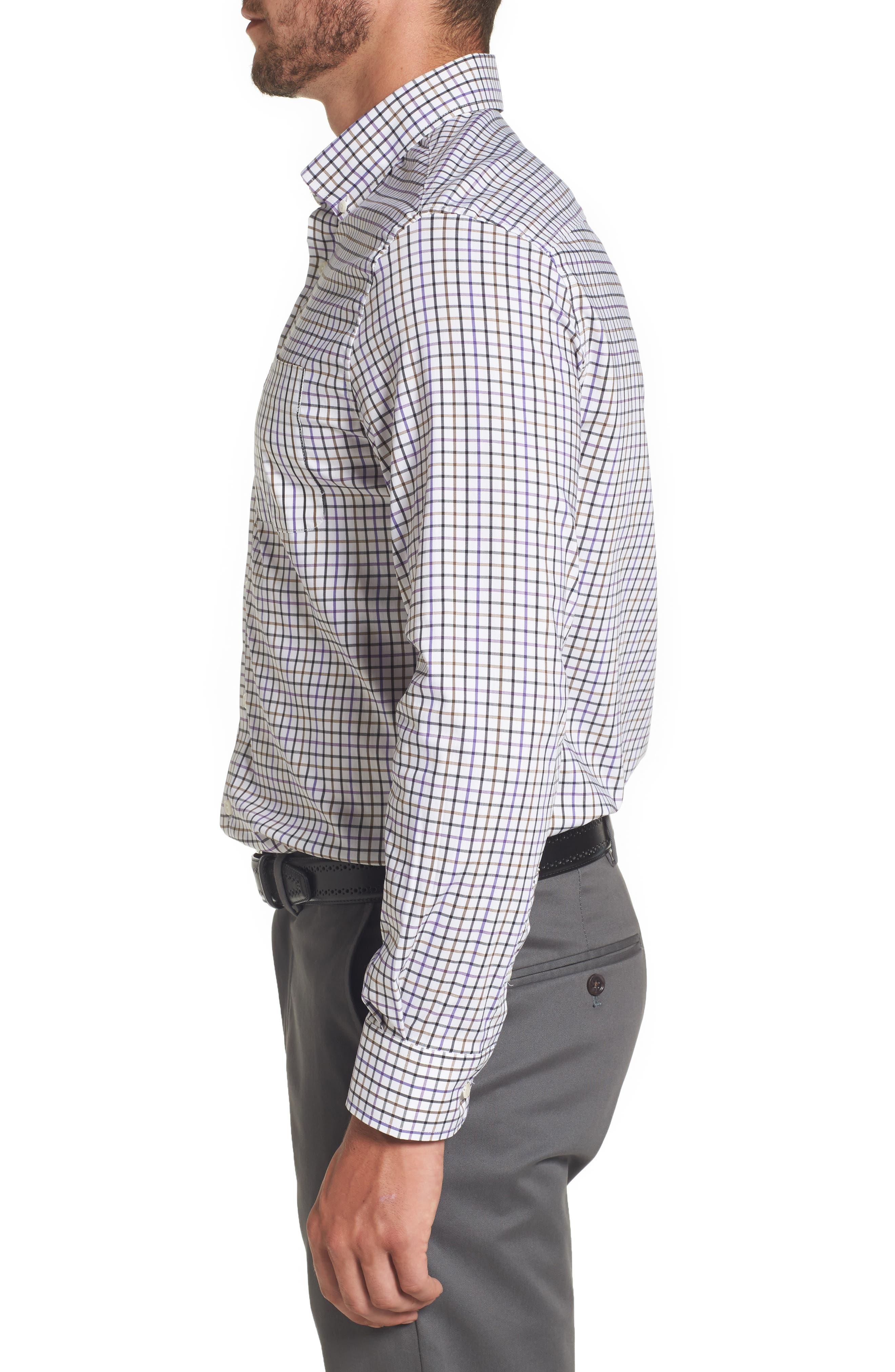 Merion Tattersall Sport Shirt,                             Alternate thumbnail 3, color,                             Viola